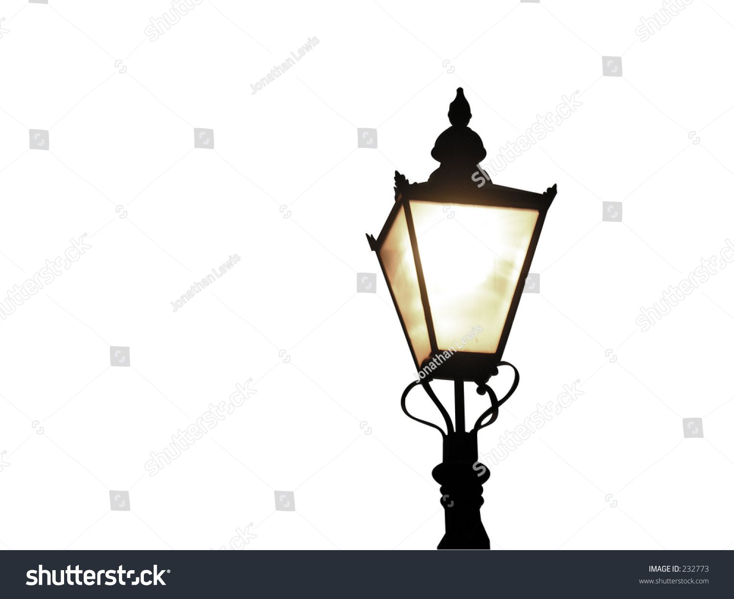 Old Fashioned Street Lamp Isolated Stock Photo 232773 - Shutterstock