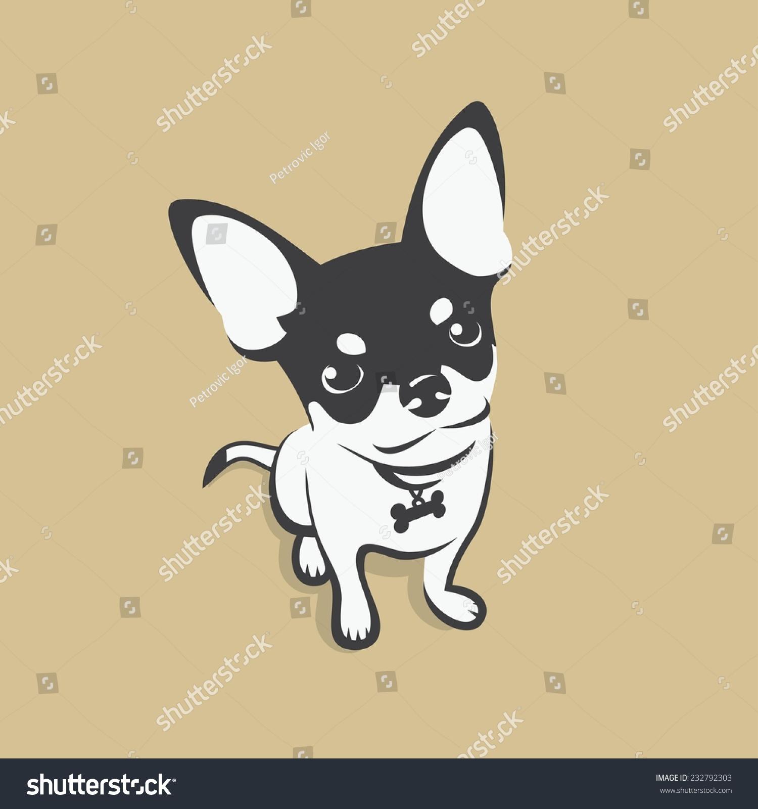 Chihuahua Dog Vector Illustration Vector de stock (libre de regalías ...