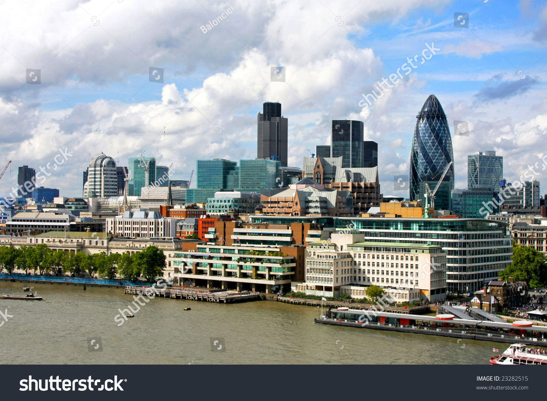 Landscapes along the south bank - Sunny London City Landscape From South Bank