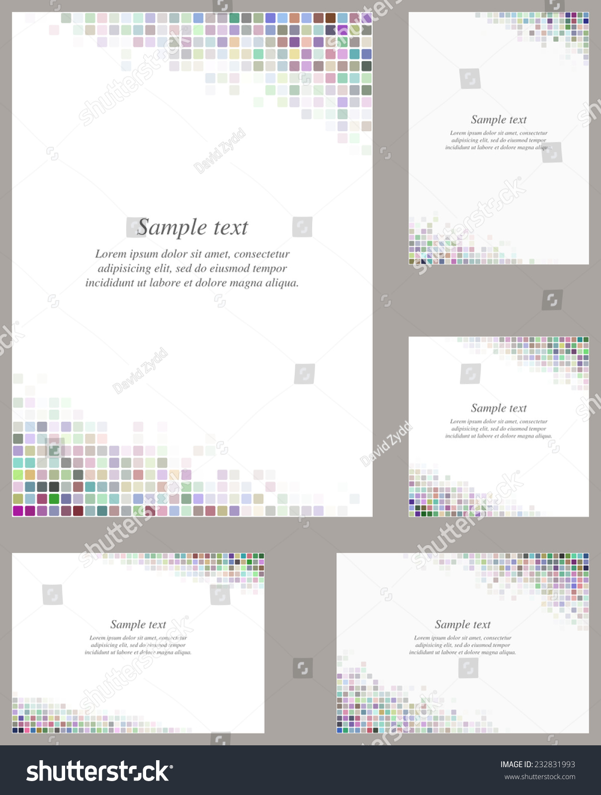 Multicolor page corner design template invitation stock vector multicolor page corner design template for invitation greeting presentation card letter stopboris Image collections