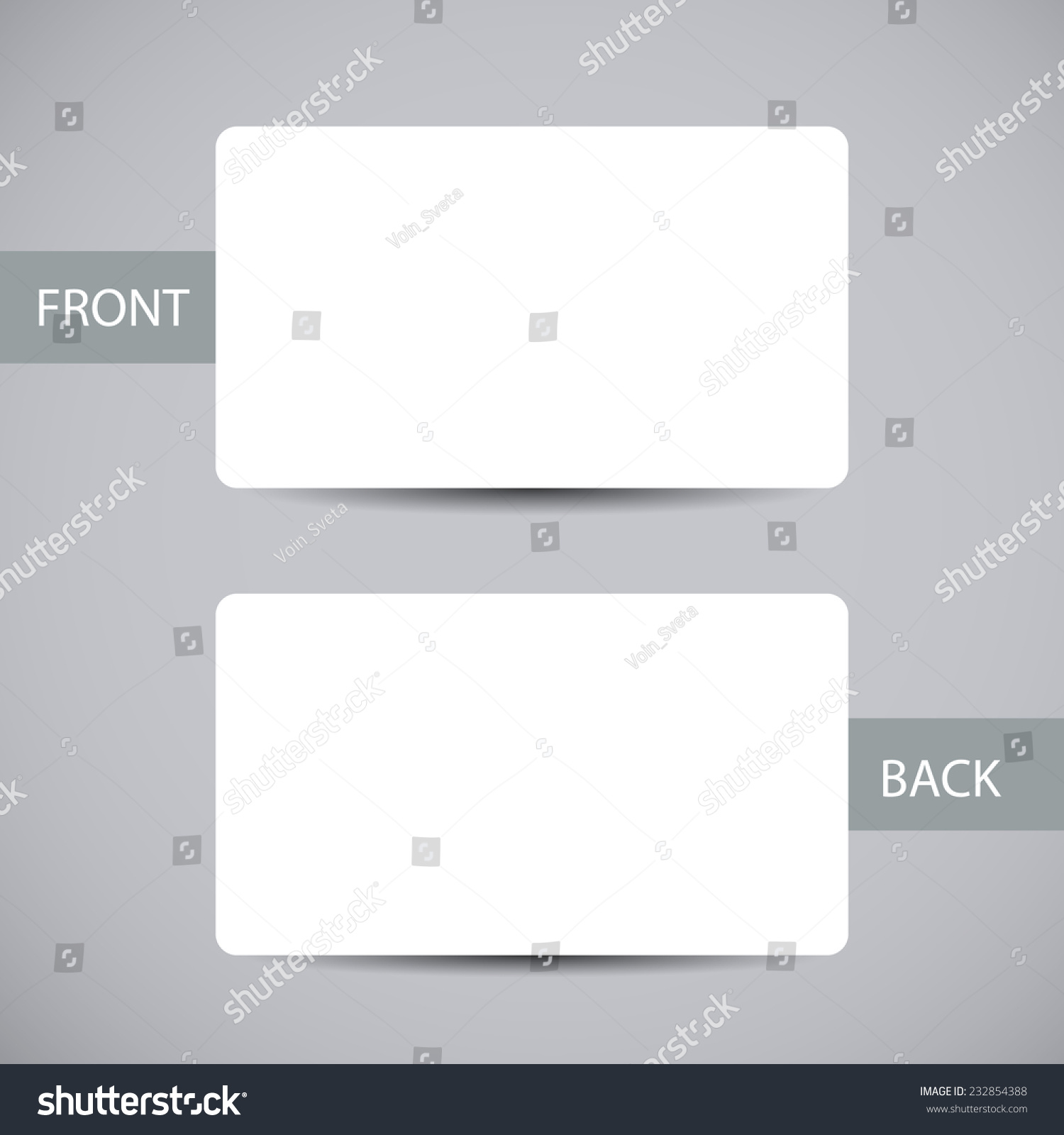 Blank business card template round corners stock vector 232854388 blank business card template with round corners and shadow vector illustration magicingreecefo Gallery