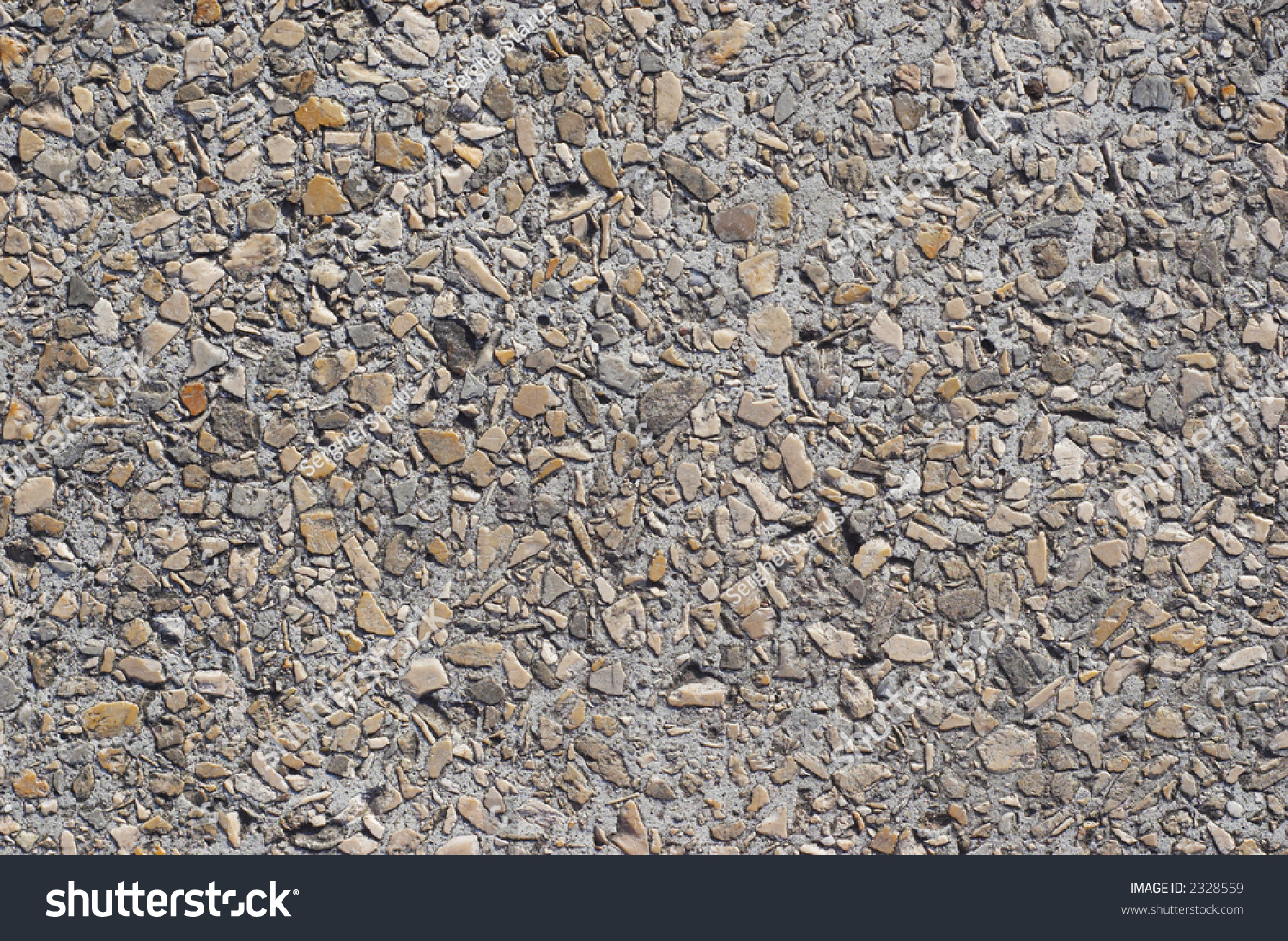 Texture Concrete Slab : Texture concrete slab armored by pebbles stock photo