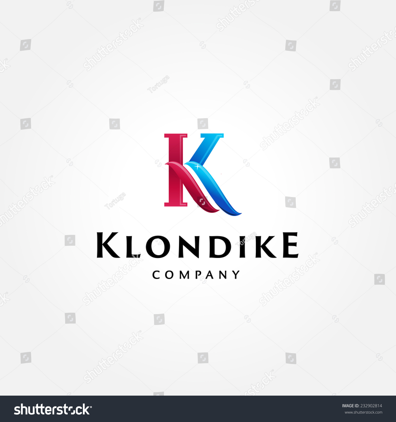stylish typographic logo template letter k のベクター画像素材