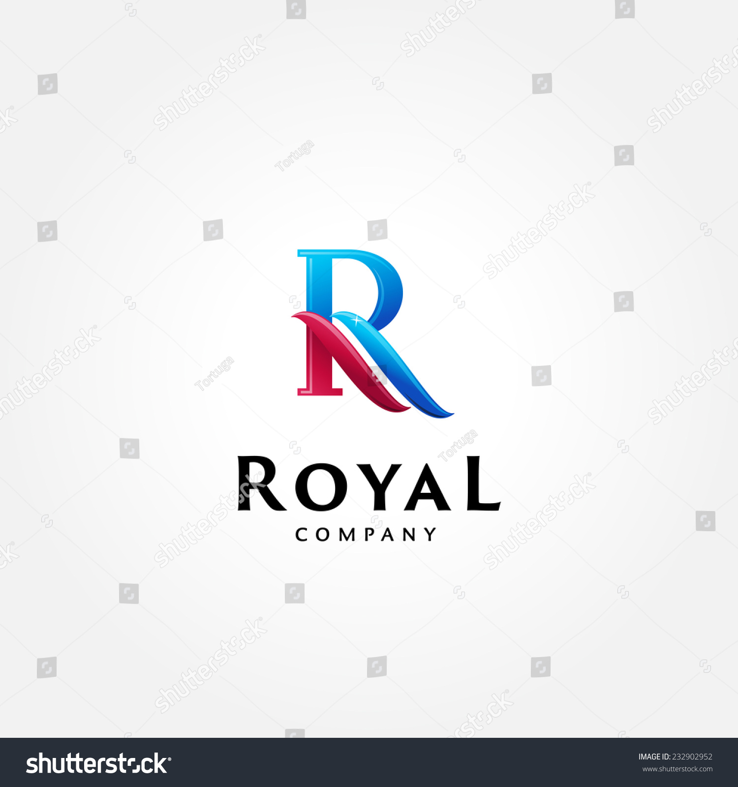 Stylish typographic logo template   Letter R Symbol   shiny icon template    corporate identity. Stylish Typographic Logo Template Letter R Stock Vector 232902952