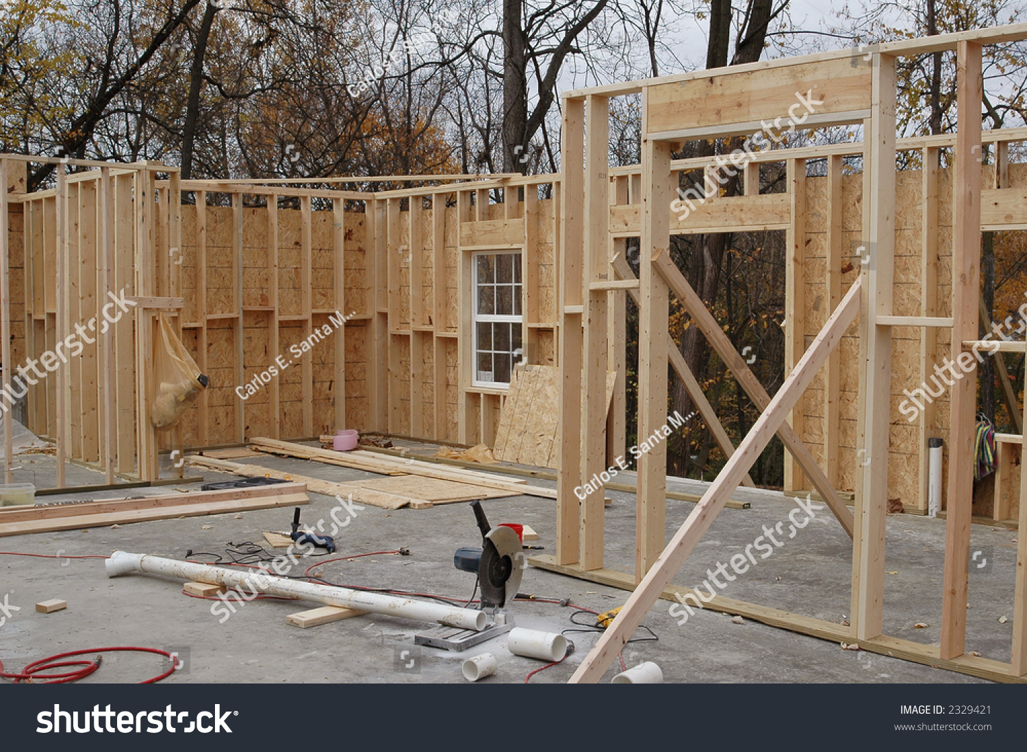 House Framing Tools Stock Photo (100% Legal Protection) 2329421 ...