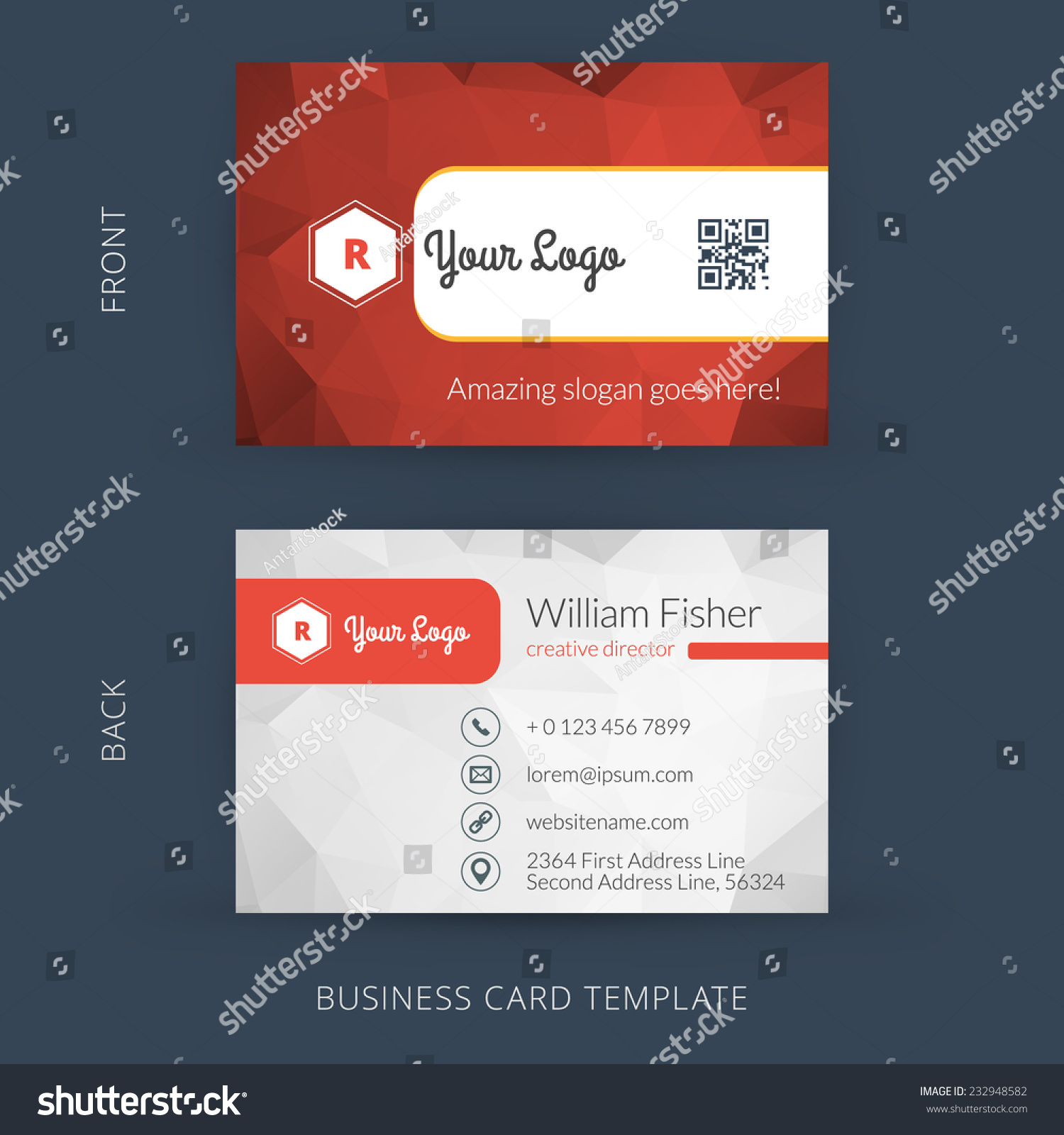 Vector modern creative business card template stock vector hd vector modern creative business card template flat design eps 10 flashek Image collections