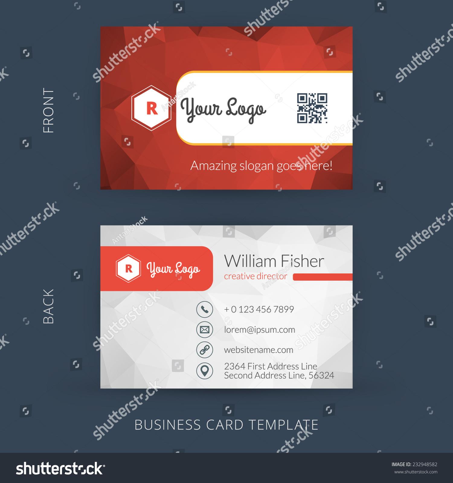 Vector modern creative business card template stock vector royalty vector modern creative business card template flat design eps 10 flashek Choice Image