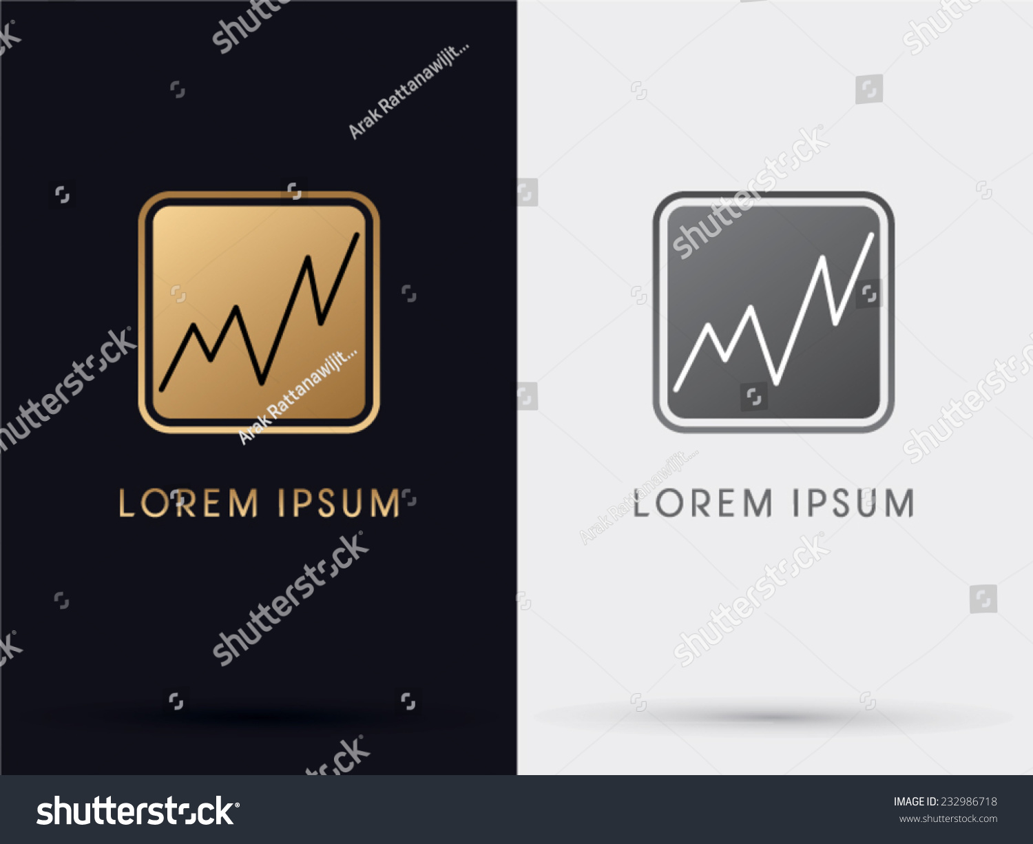 Gold business graph stock market symbol stock vector 232986718 gold business graph stock market symbol logo vector biocorpaavc Images