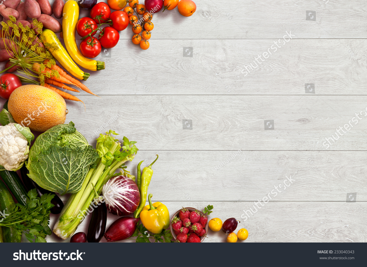 Food background studio photo of different fruits and vegetables - Healthy Food Background Studio Photo Of Different Fruits And Vegetables On Wooden Table
