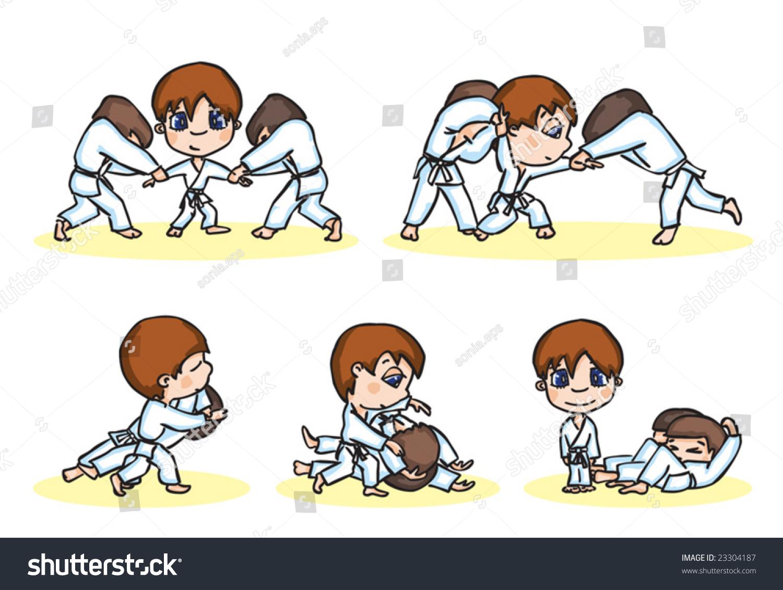 Vector Illustration Aikido Fight Throw Stock Vector 23304187 ...