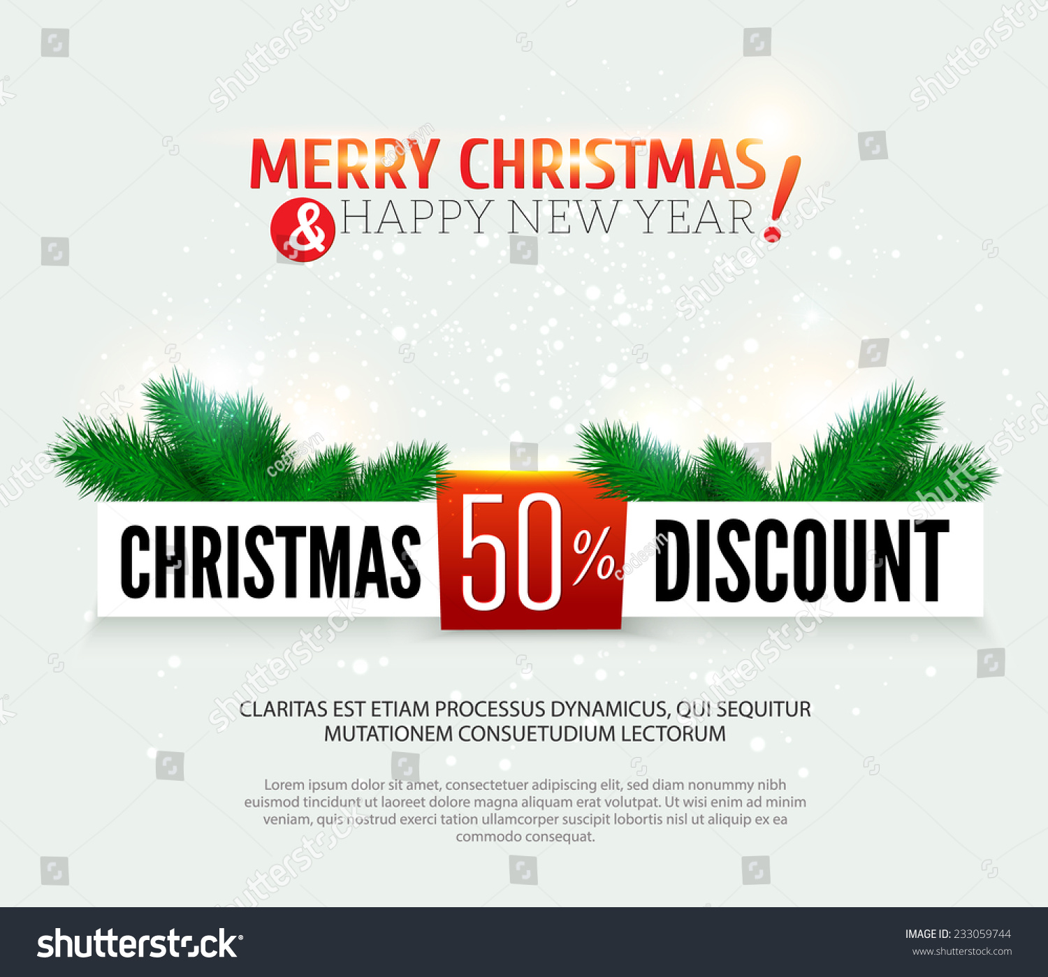 Christmas Discount, Sale Banner. Vector Illustration. - 233059744 ...