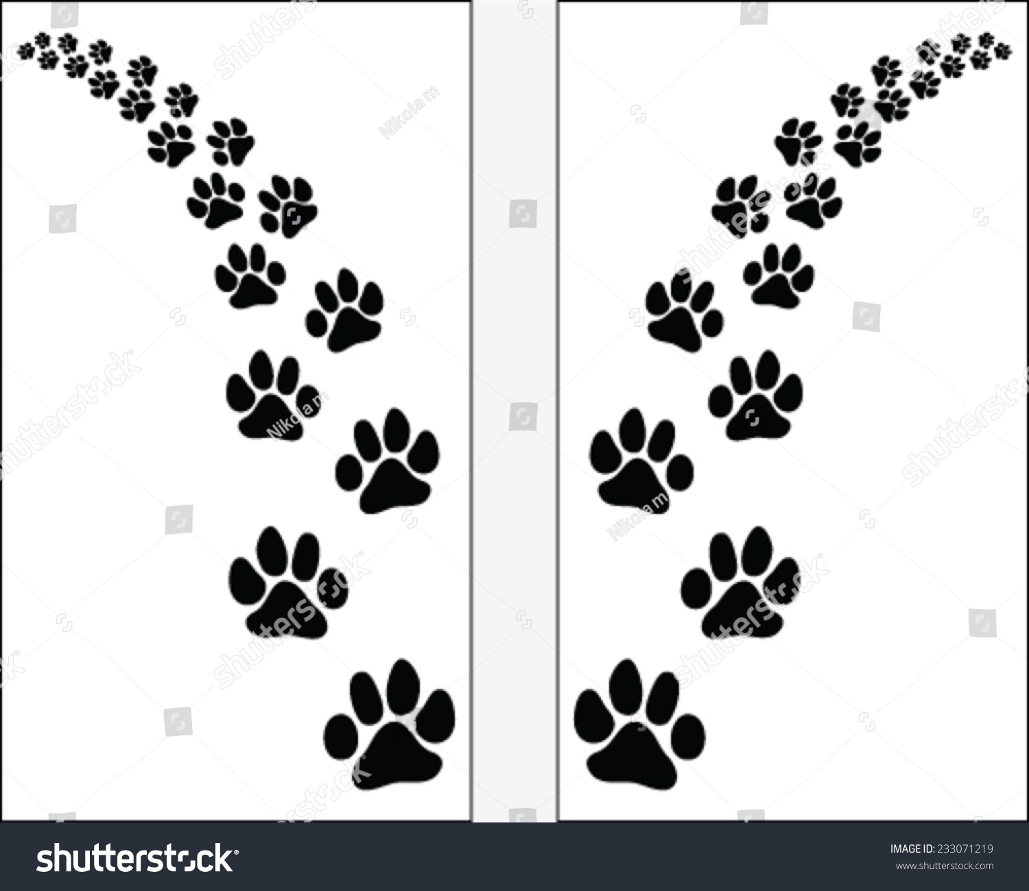 Dog Paw And Cat Paw