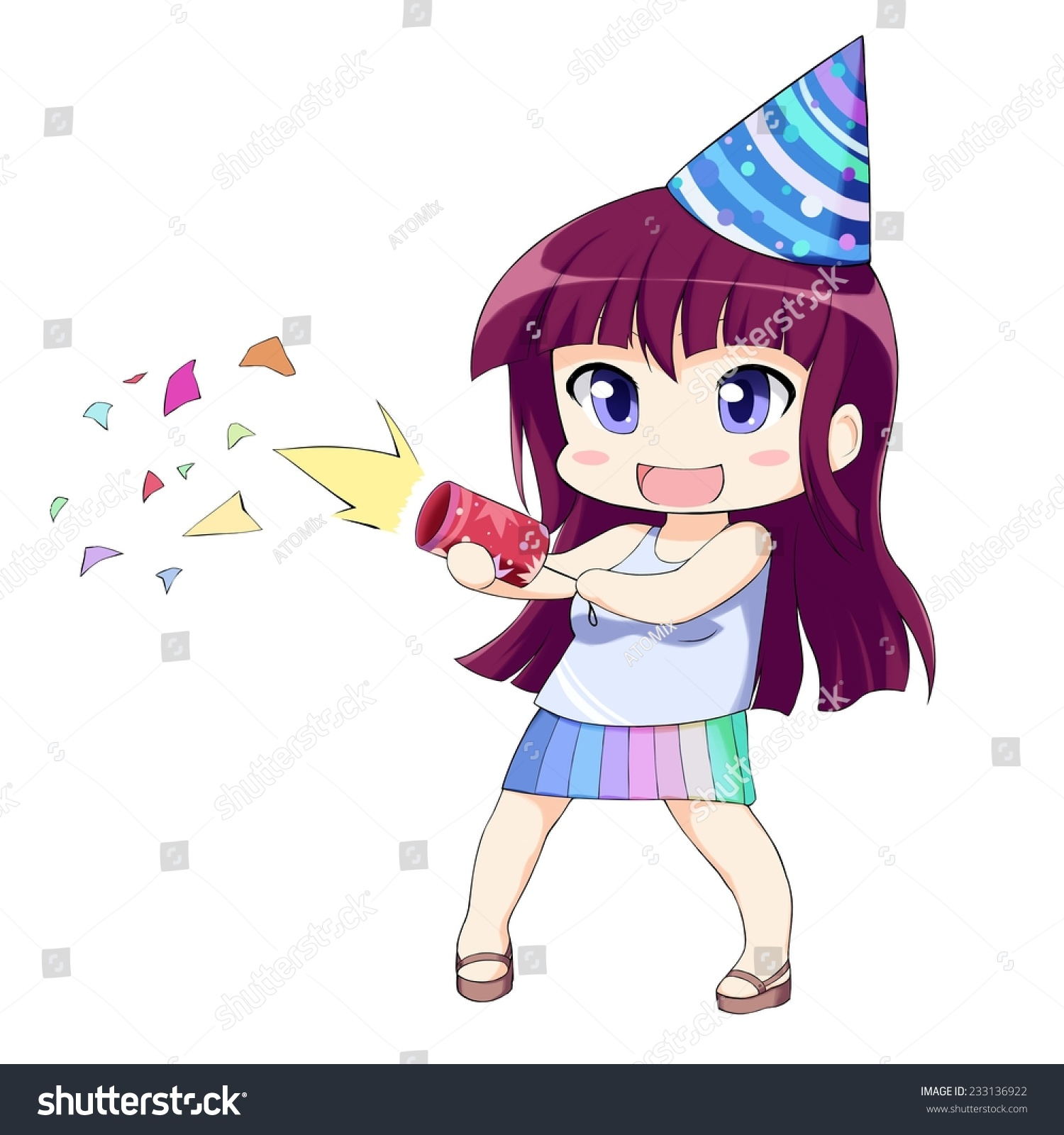 birthday anime Anime Happy Girl Petard Birthday Cap Stock Illustration 233136922  birthday anime