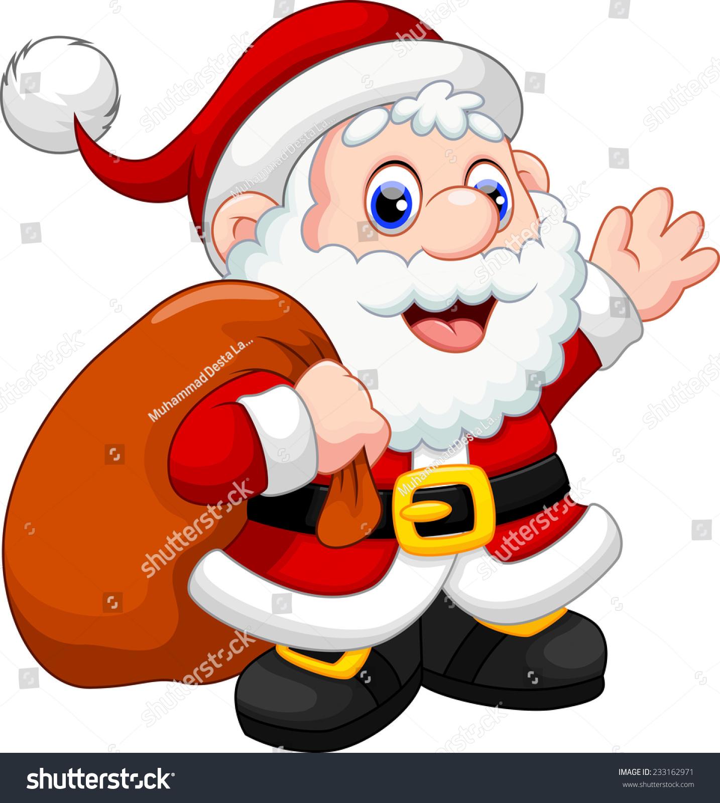 Cute cartoon christmas santa - photo#5