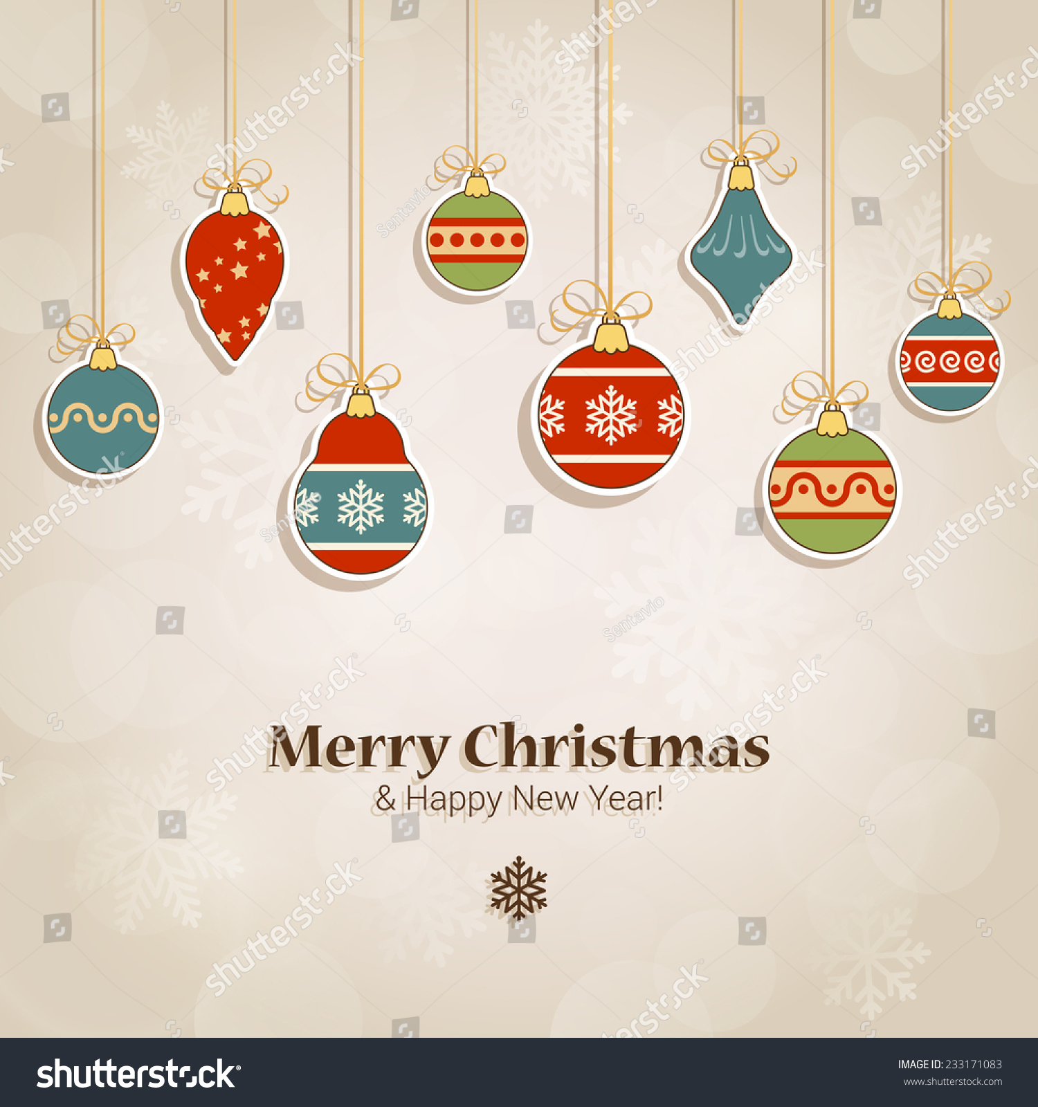 Christmas Postcard Template Label Style Fir Stock Vector - Christmas postcard template
