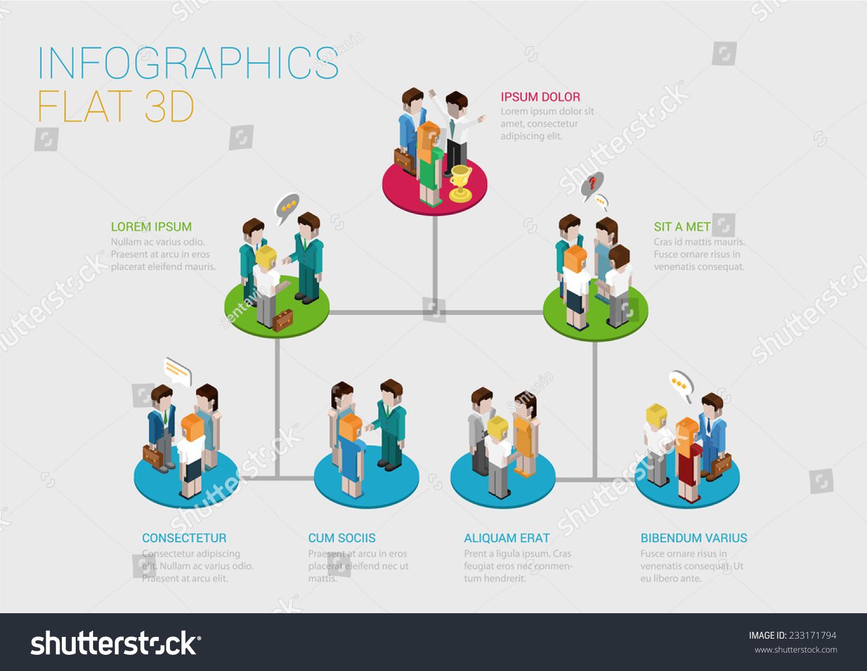 Flat 3d Isometric Infographic Concept Company Stock Photo (Photo ...