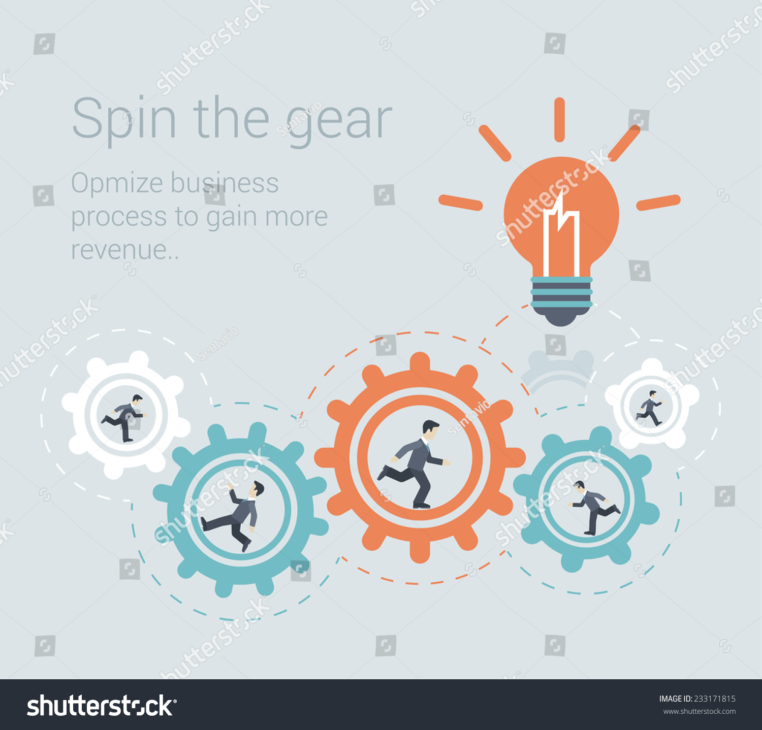 Flat style modern effective process teamwork stock vector for Conceptual site model template