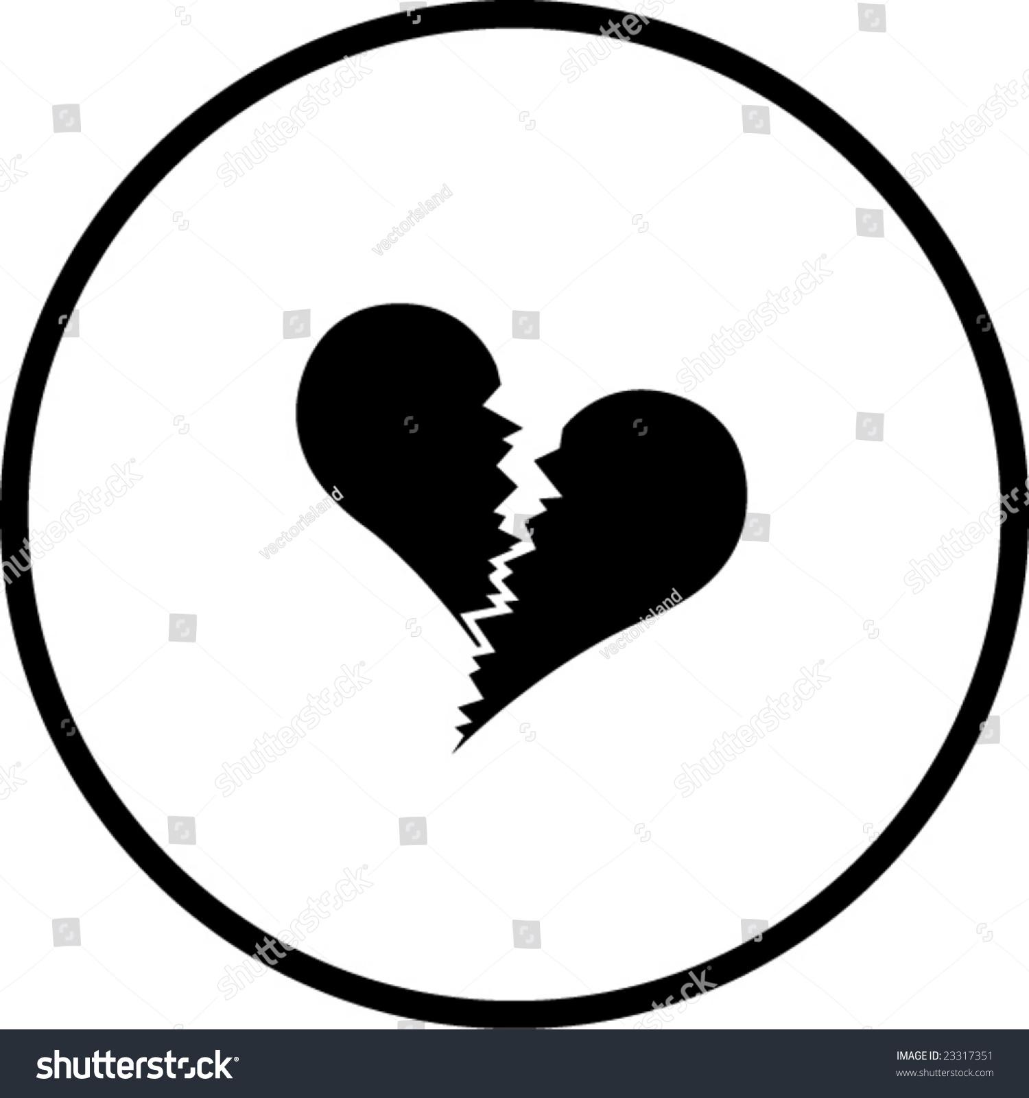 Broken Heart Symbol Stock Vector Royalty Free 23317351 Shutterstock
