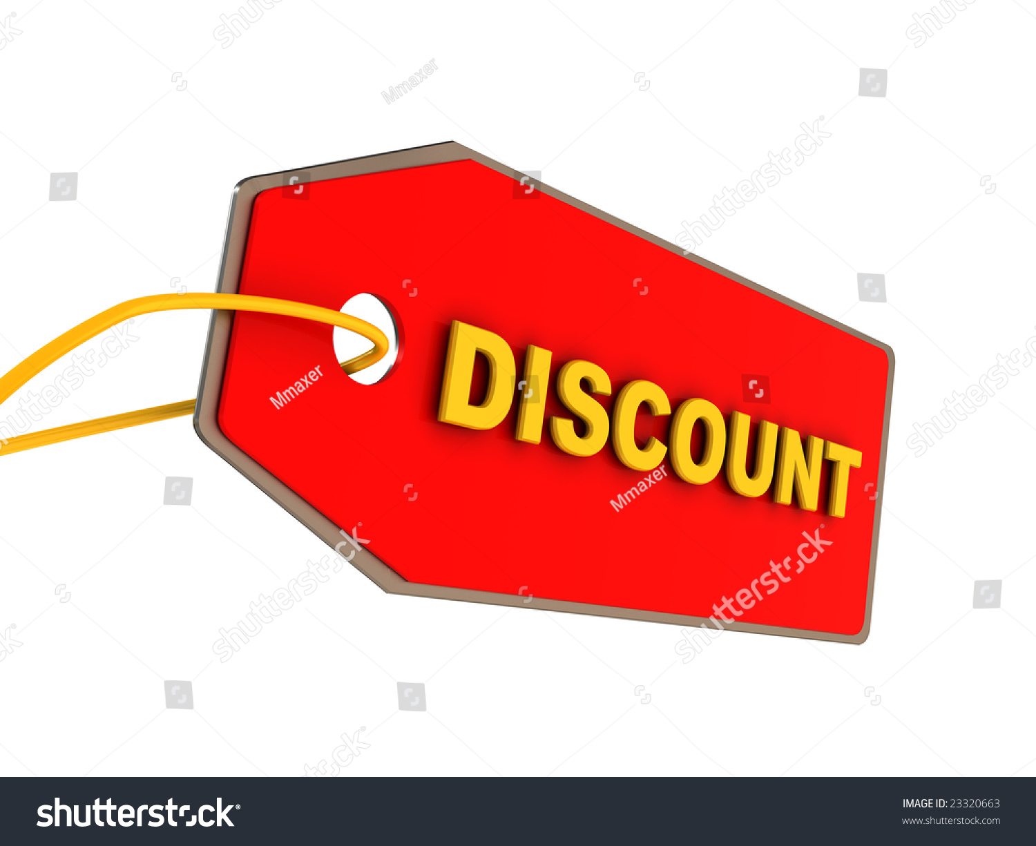 3d illustration of discount ticket over white background for Cheap white wallpaper