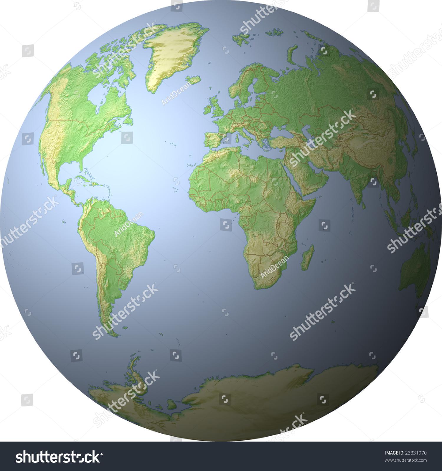 World Map Showing Whole World On Stock Illustration 23331970 ...