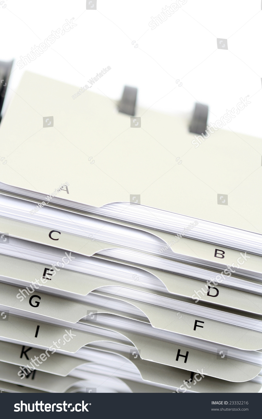 Traditional Business Card Holder On White Stock Photo 23332216 ...
