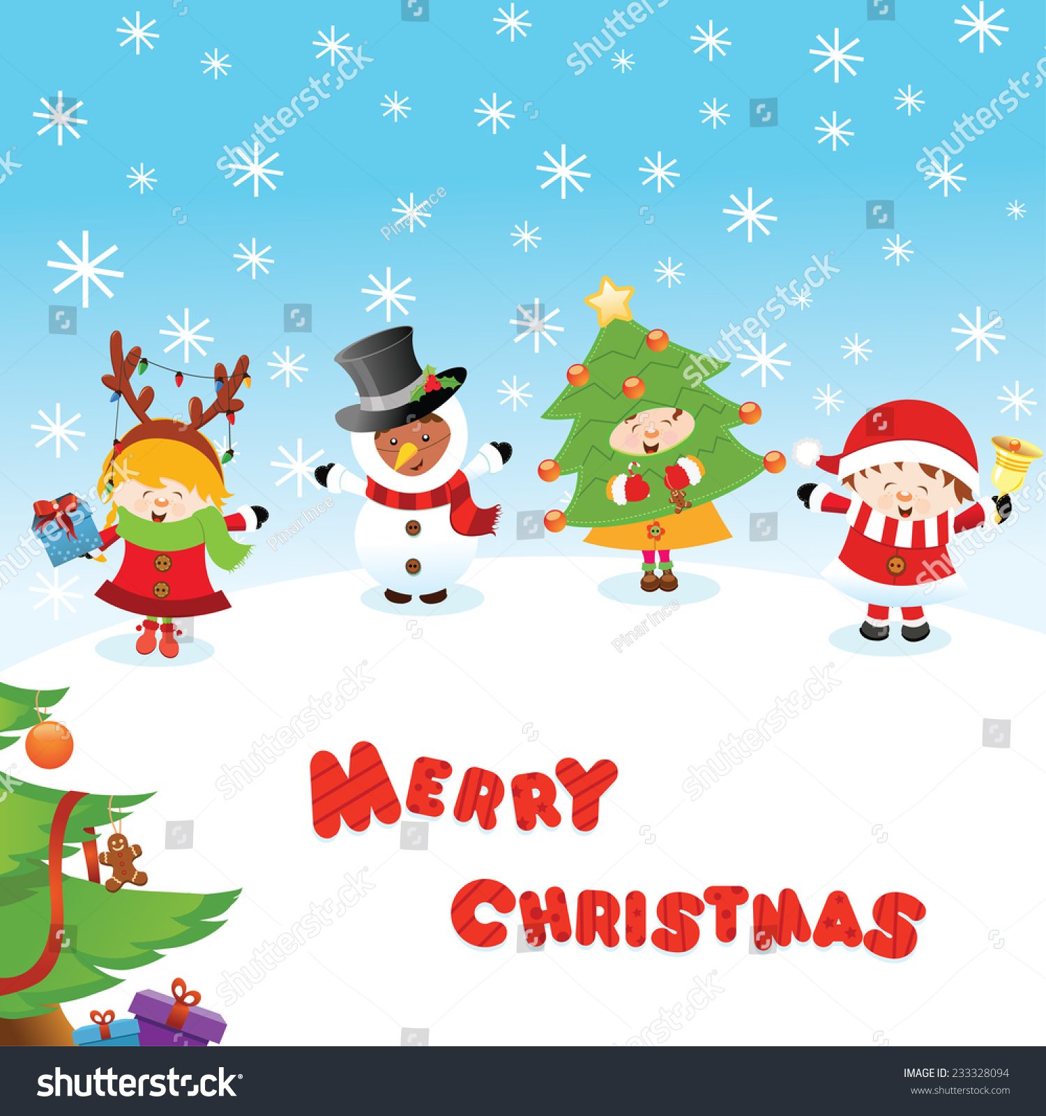 Costumed kids christmas messages stock vector 233328094 shutterstock costumed kids christmas messages m4hsunfo