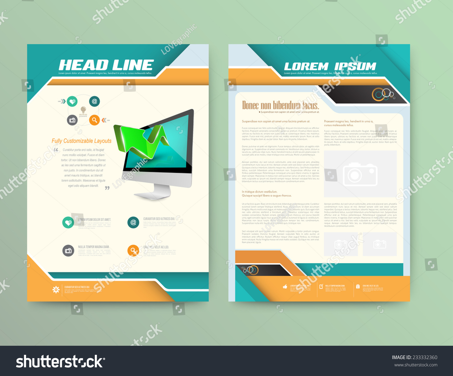 Abstract Vector Brochure Template Flyer Layout Stock Vector ...
