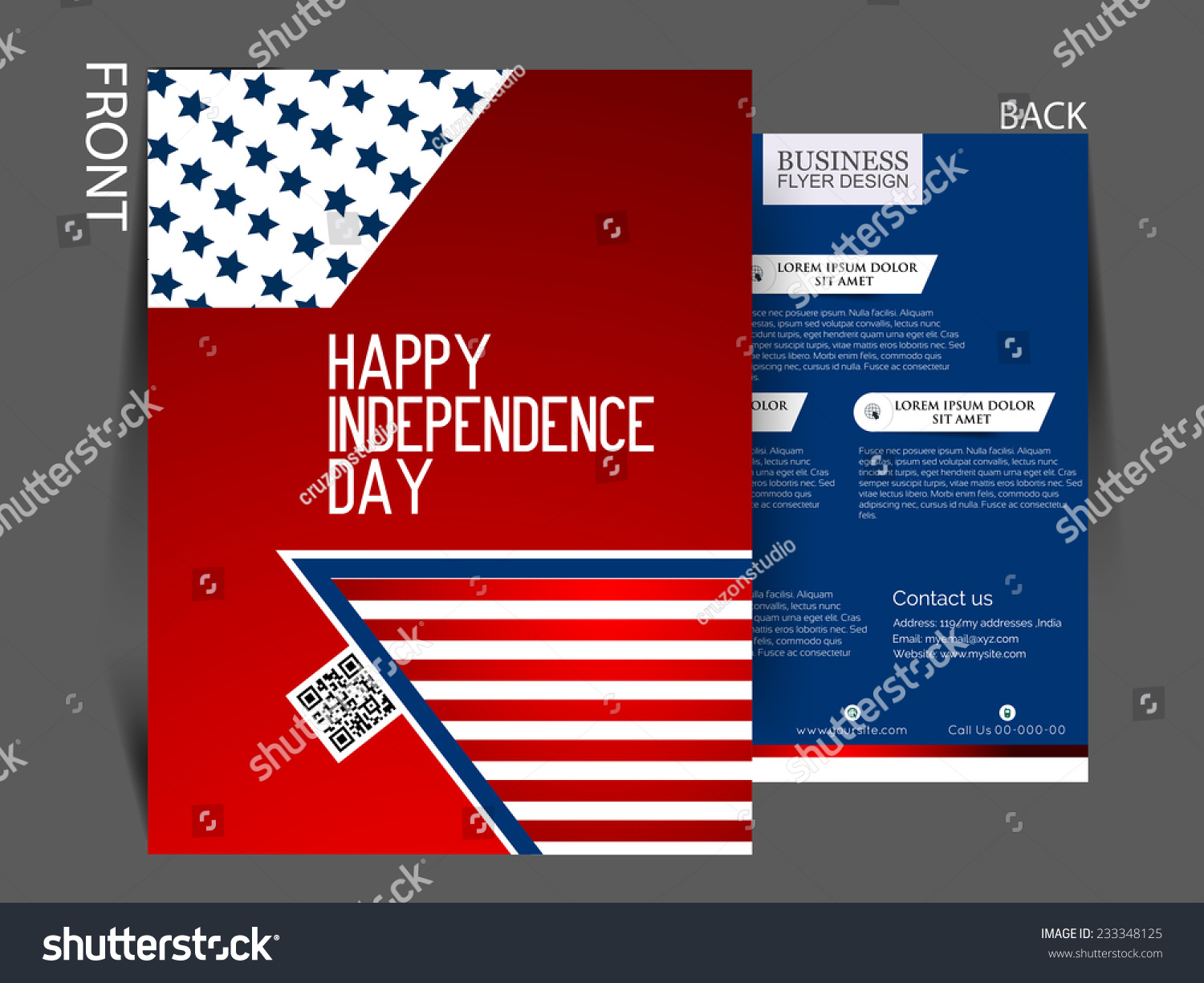 Vector Independence Day Flyer.