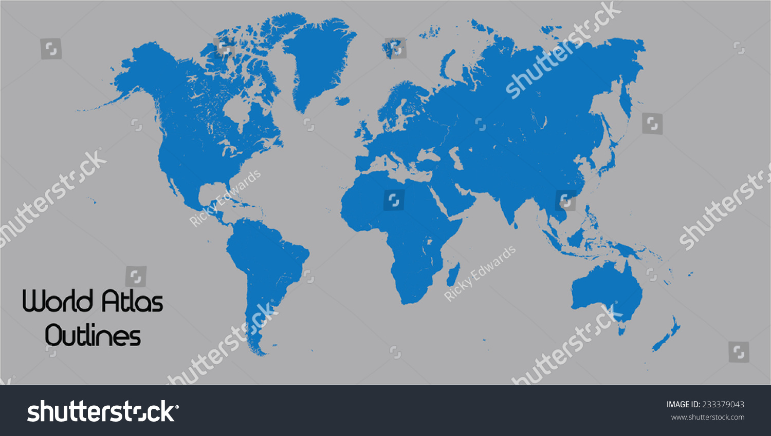 Outlines world atlas stock vector 233379043 shutterstock outlines of world atlas gumiabroncs Images