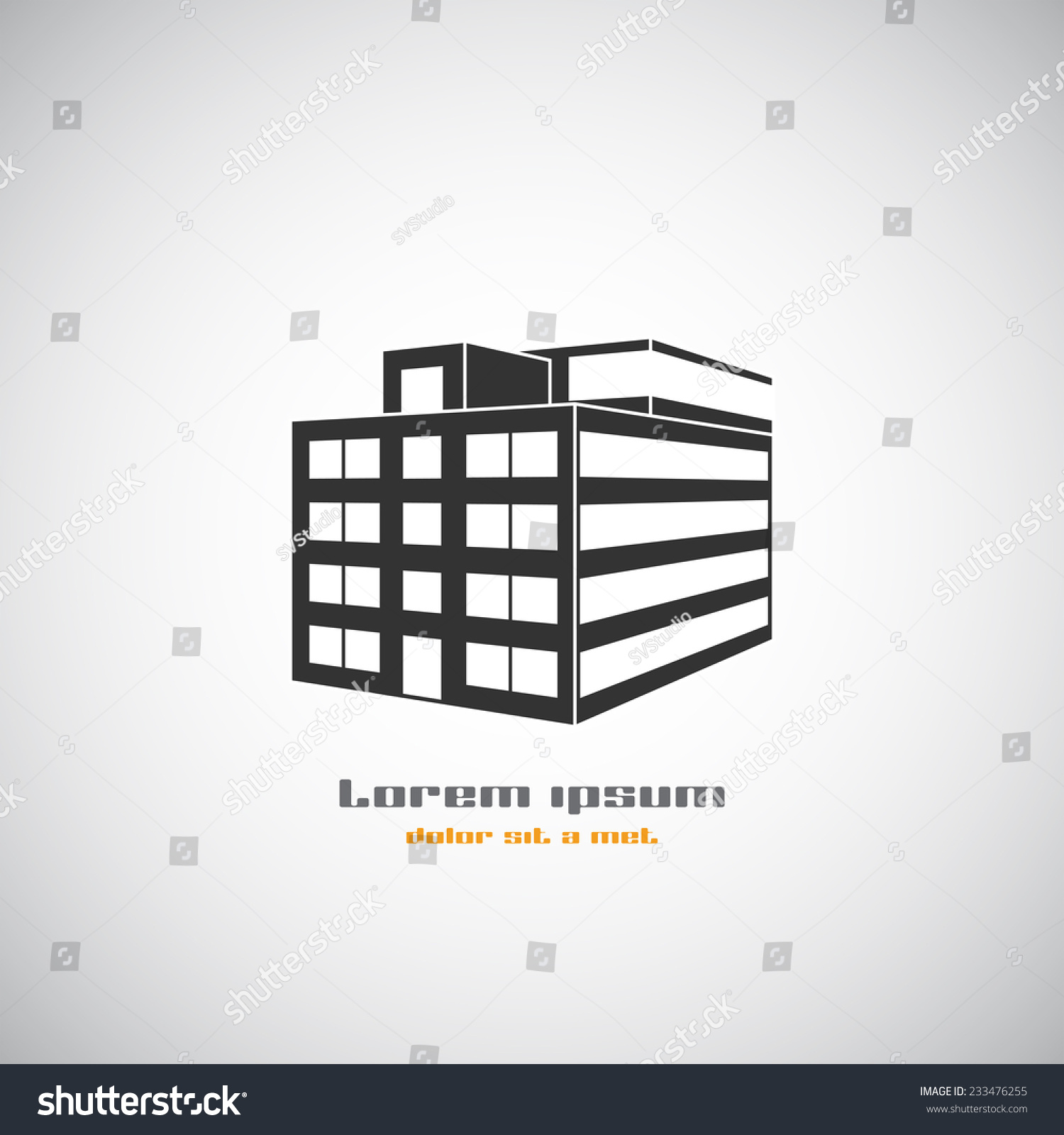 Abstract building silhouette real estate houses logos for Modern house logo