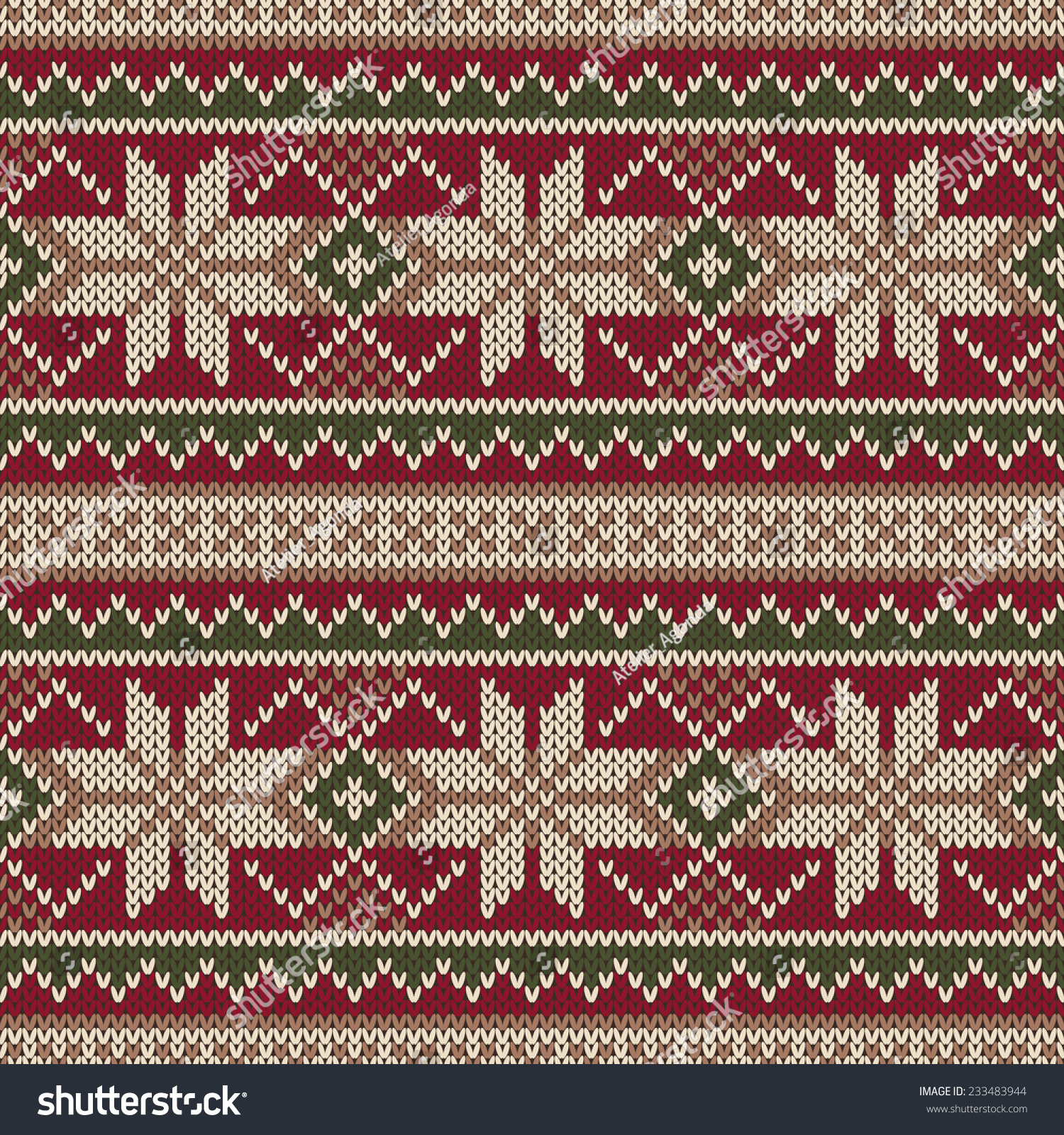 Christmas Knitting Background : Christmas sweater design seamless knitting pattern stock