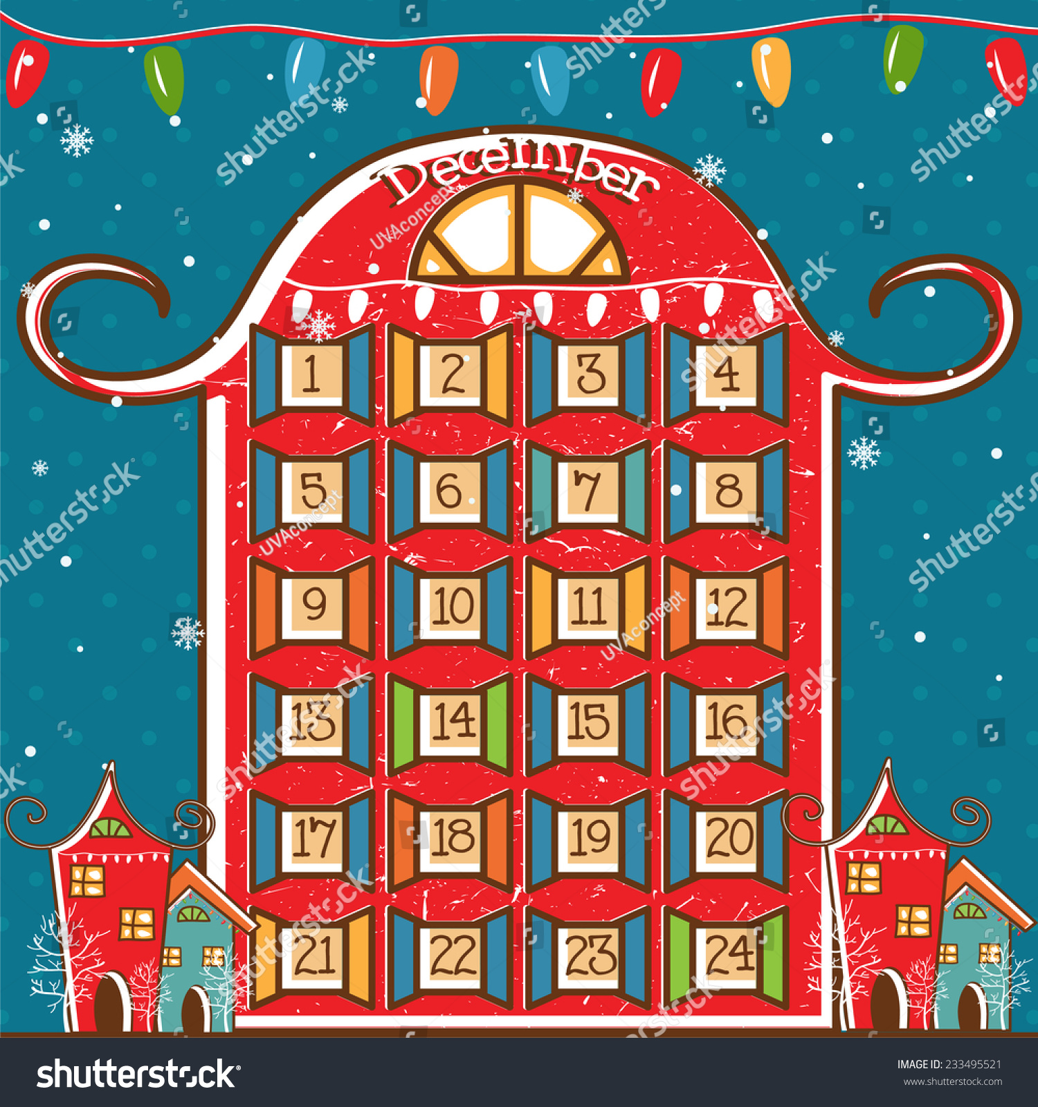 Calendar Illustration Vector : Illustration christmas calendar vector stock