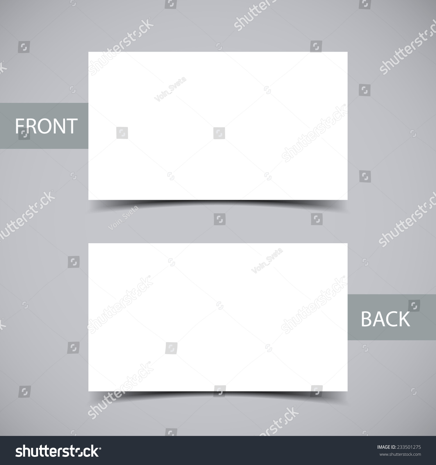 Blank Business Card Shadow Template Vector Stock Vector 233501275 ...