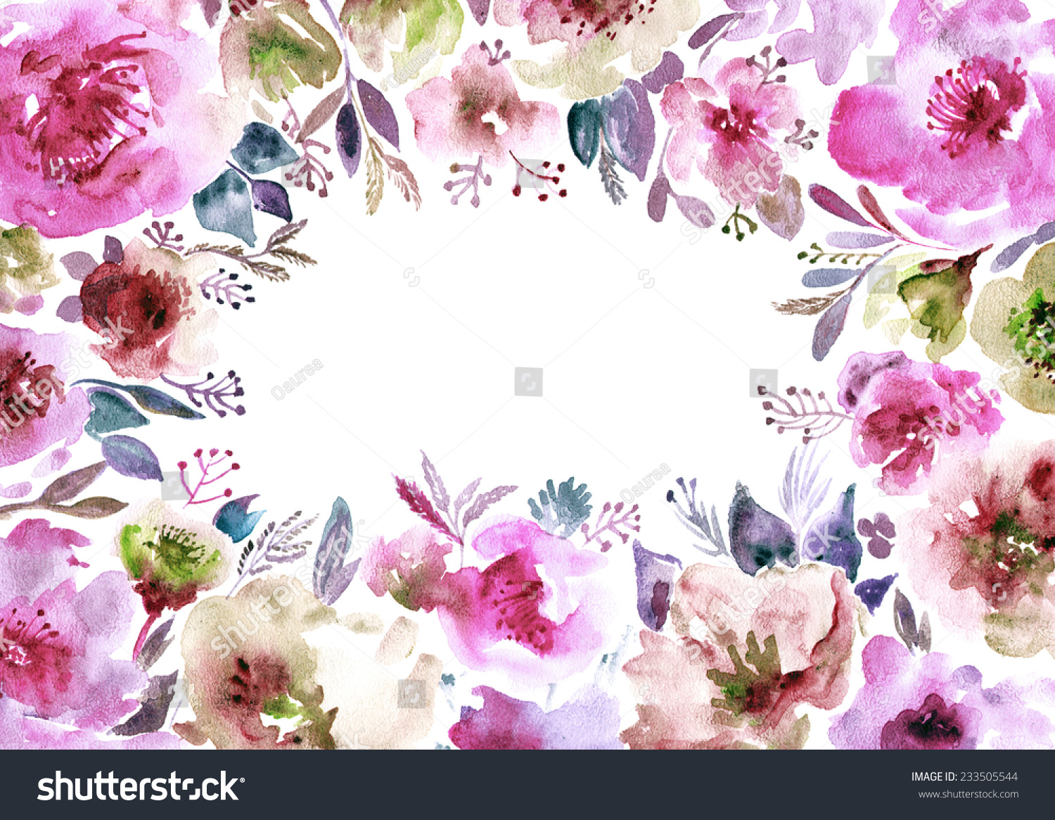 Floral Background Watercolor Floral Bouquet Birthday Stock ...
