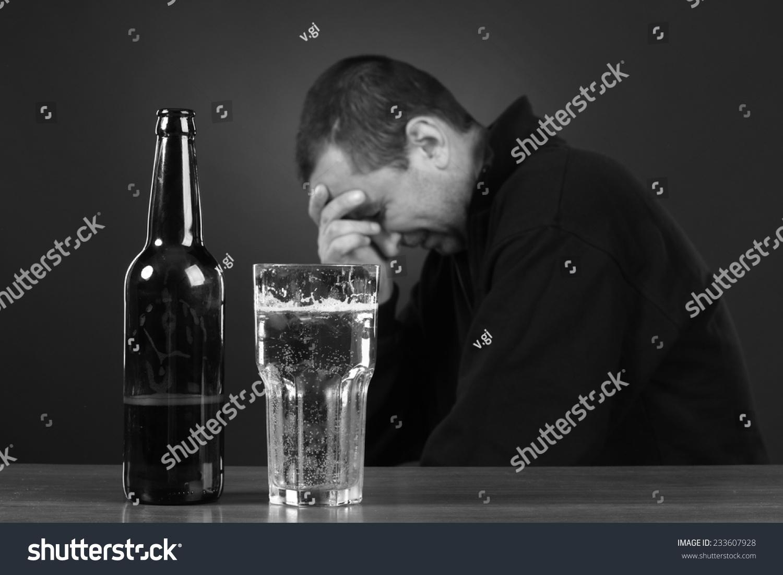 Alcoholic Despair Smoker Trouble Drunk Man Stock Photo ...