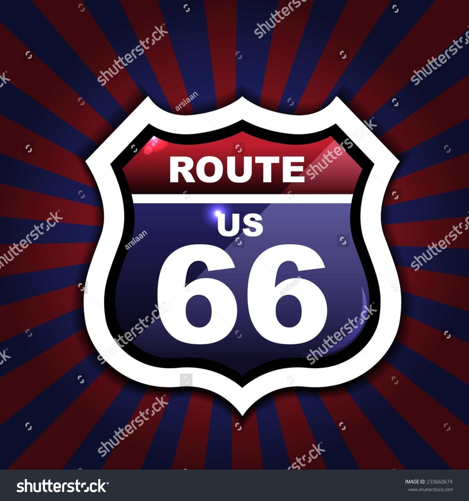 Route 66 sign set origami vintage stock vector 233660674 route 66 sign set origami vintage label tag jeuxipadfo Gallery