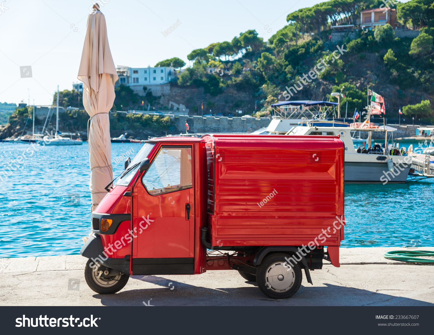 Elba Island Italy  City pictures : elba island italy sept italian red symbolic car in street of elba ...
