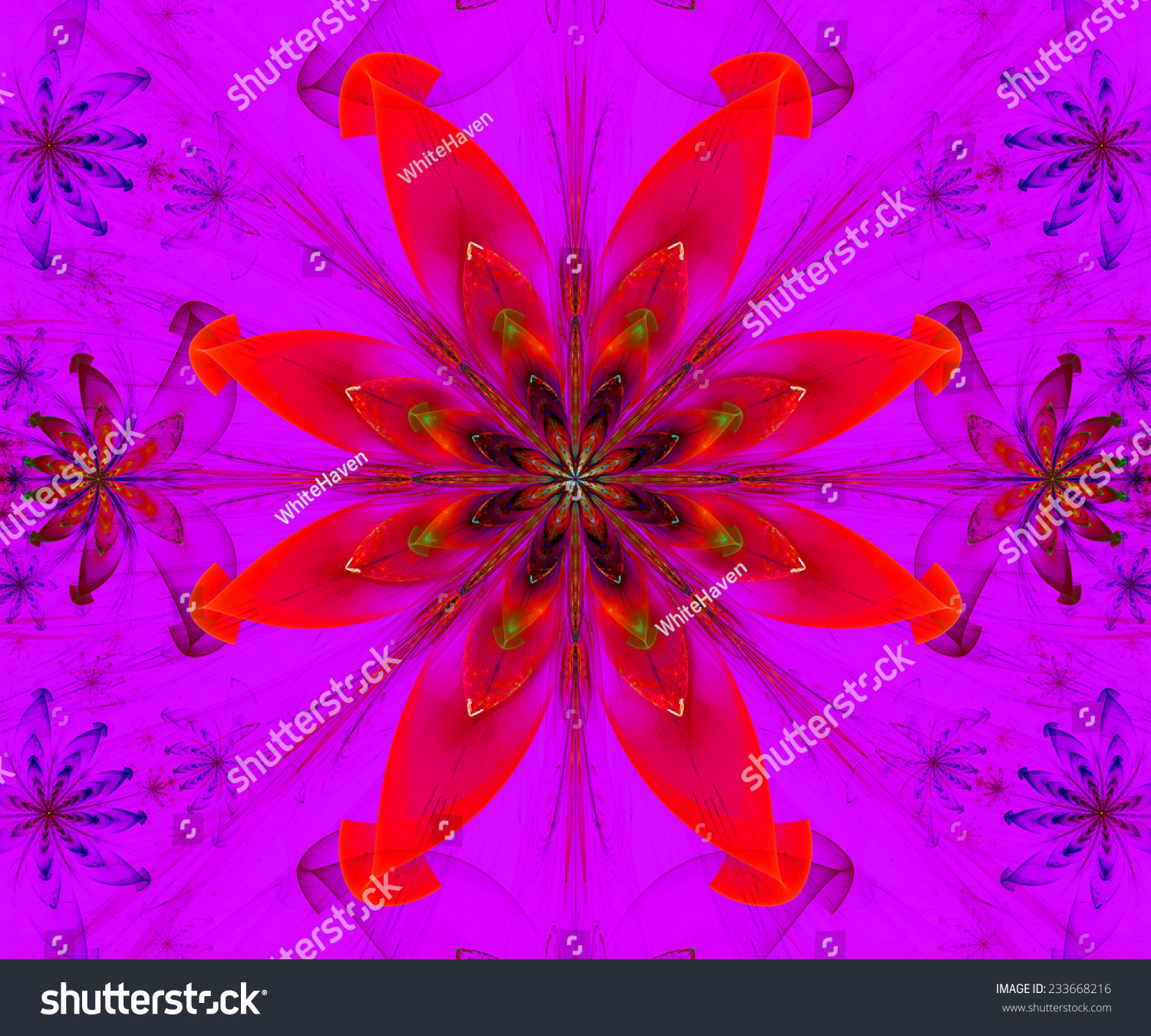 Large Modern Bright Flower Star Background Stock Illustration ...