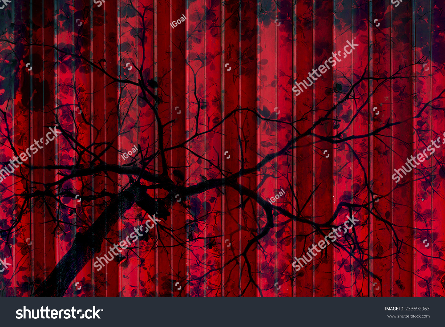 Vintage Forest Concept Art Tree Branch Stock Photo Edit Now