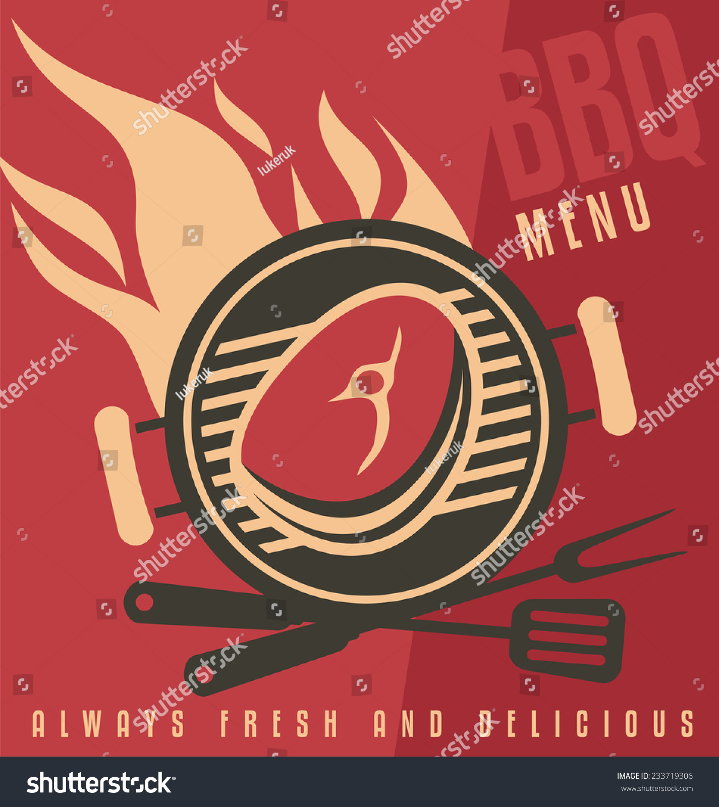 grill cover menu vector document template stock vector  grill cover menu vector document template barbecue ad flat design concept fast food restaurant