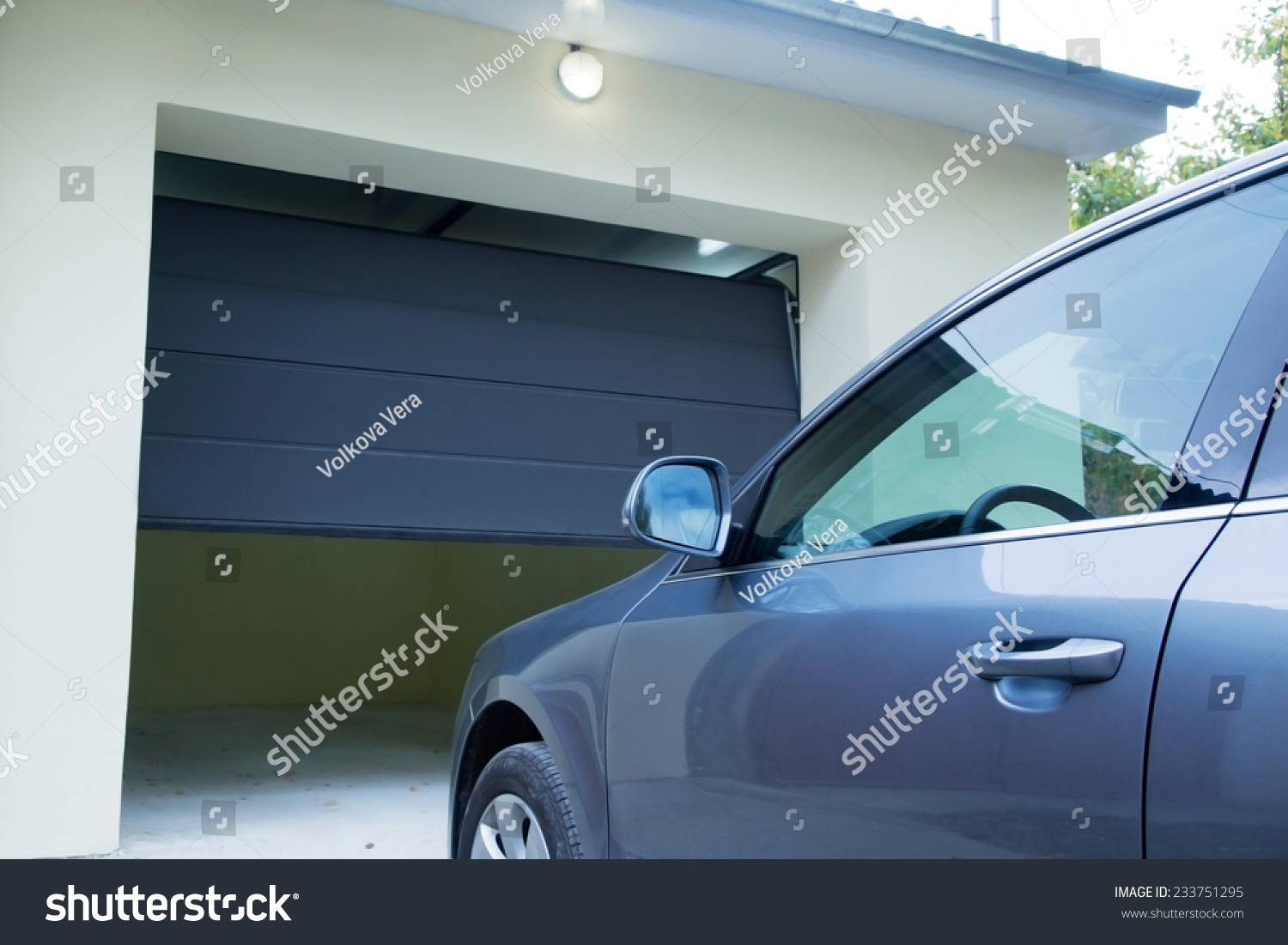 1100 #386793 Automatic Convenient Garage Doors Opening Car Stock Photo 233751295  wallpaper Garage Doors Electric Opening 36051500