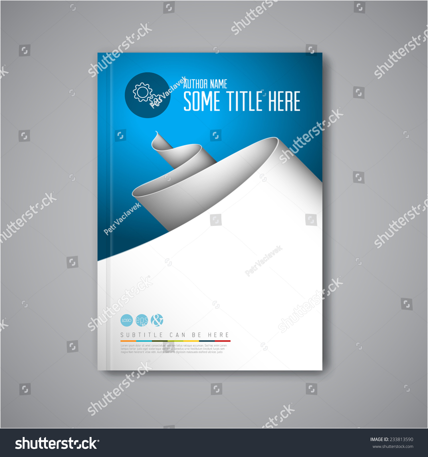 stock vector modern vector abstract brochure book flyer design template with paper 233813590 Top Result 60 Inspirational Paper Ad Design Templates