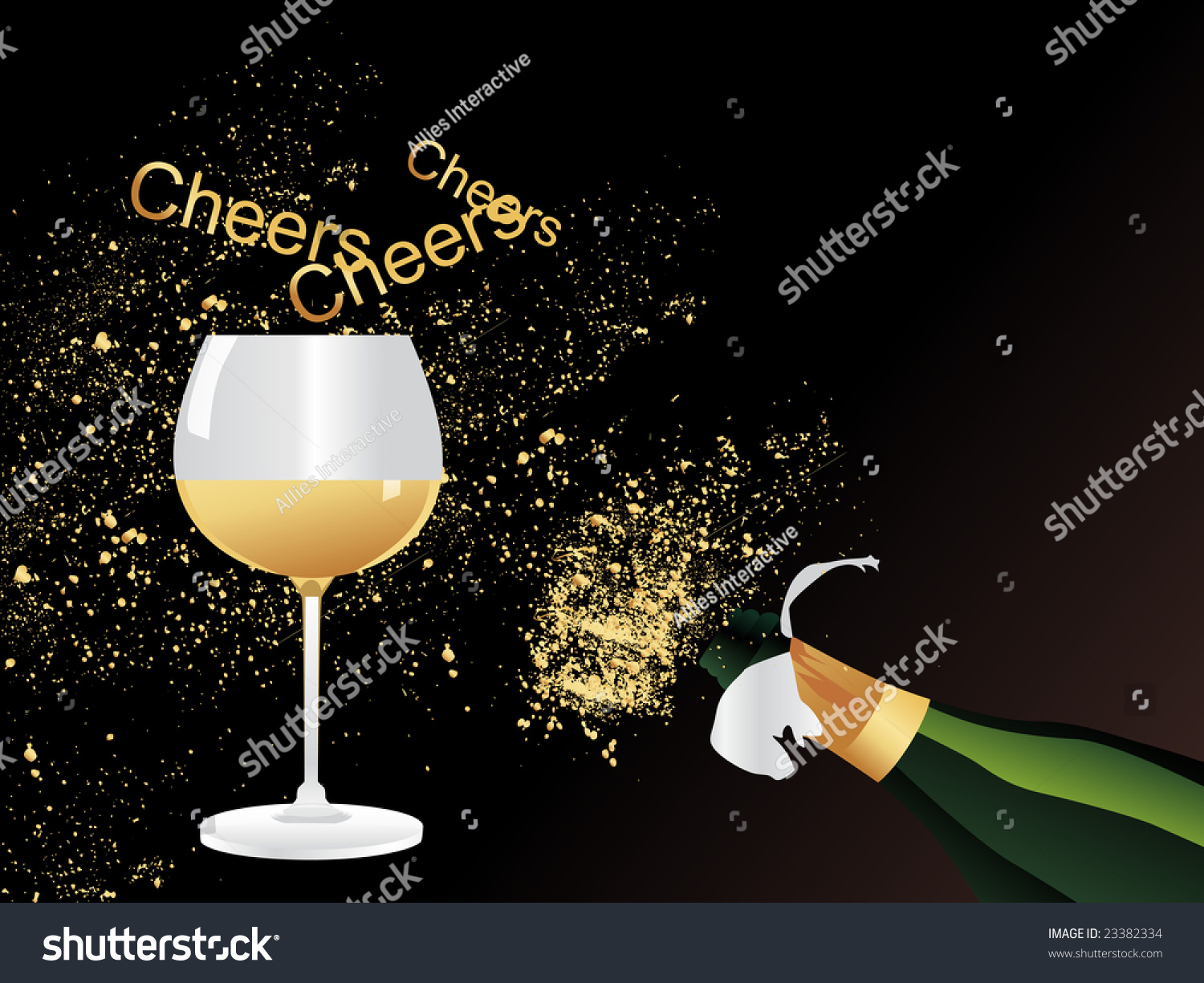 Stock Photo Vector Wallpaper Champagne Explosion