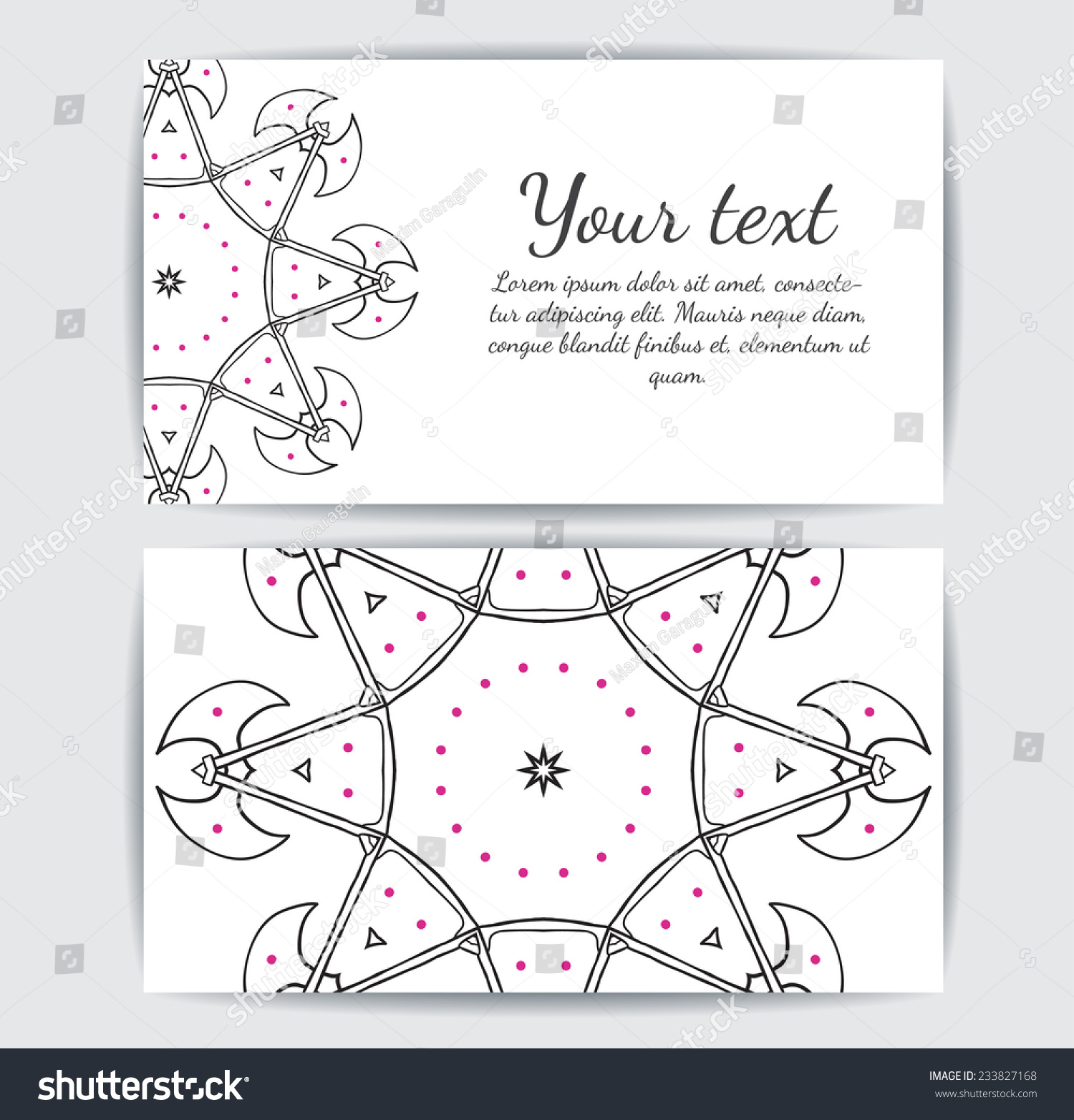 Invitation Business Card Banner Text Template Stock Photo (Photo ...