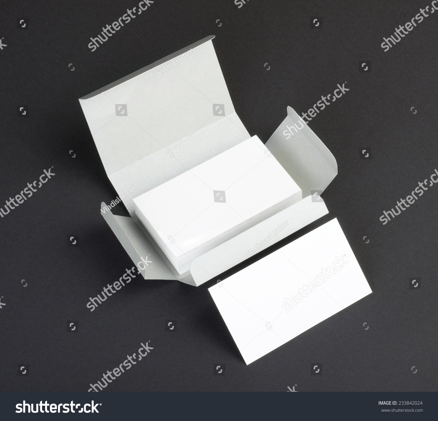 Blank business cards on gray background stock photo edit now blank business cards on a gray background reheart Gallery