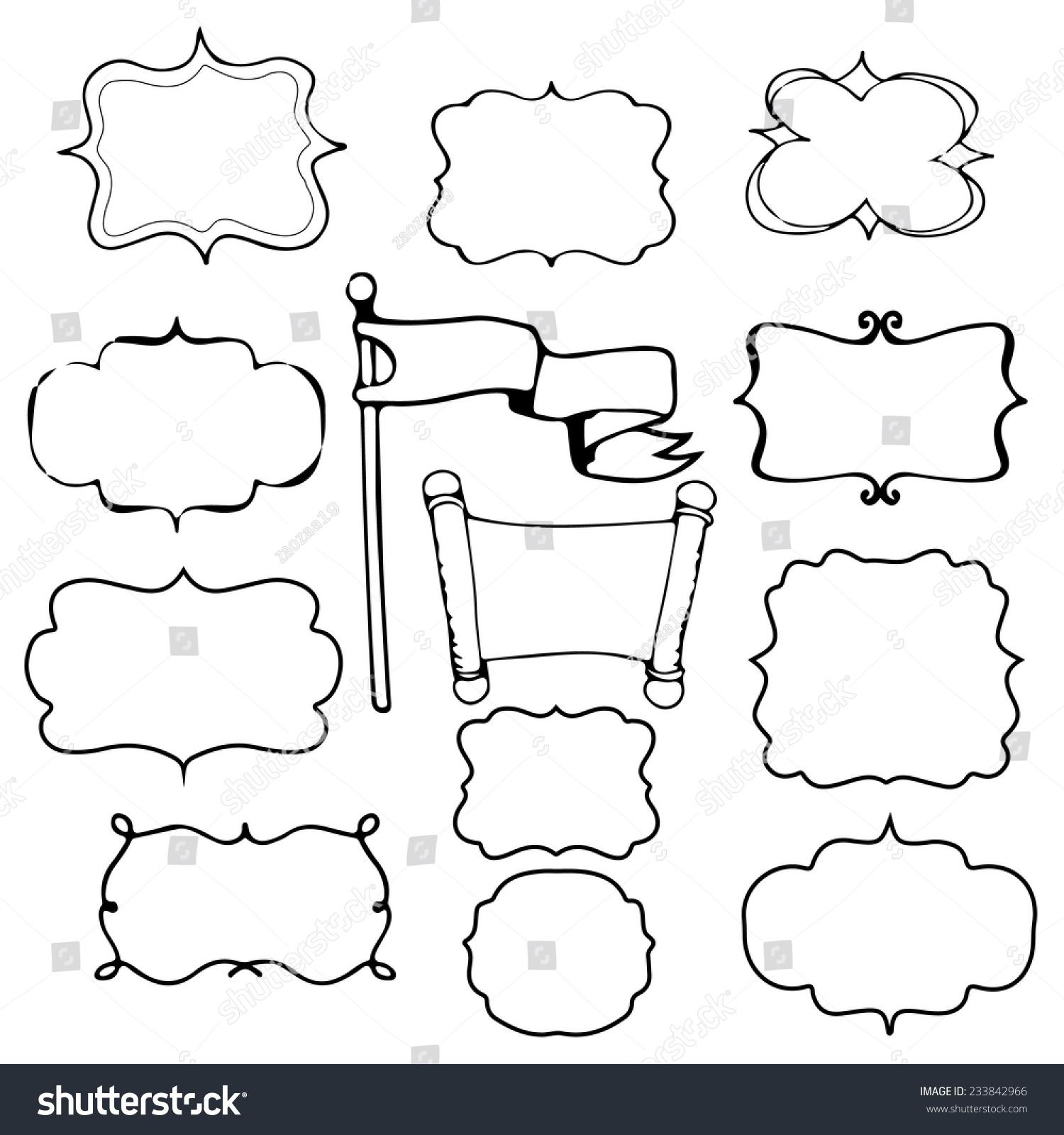 Hand Draw Frame Stock Vector 233842966 - Shutterstock