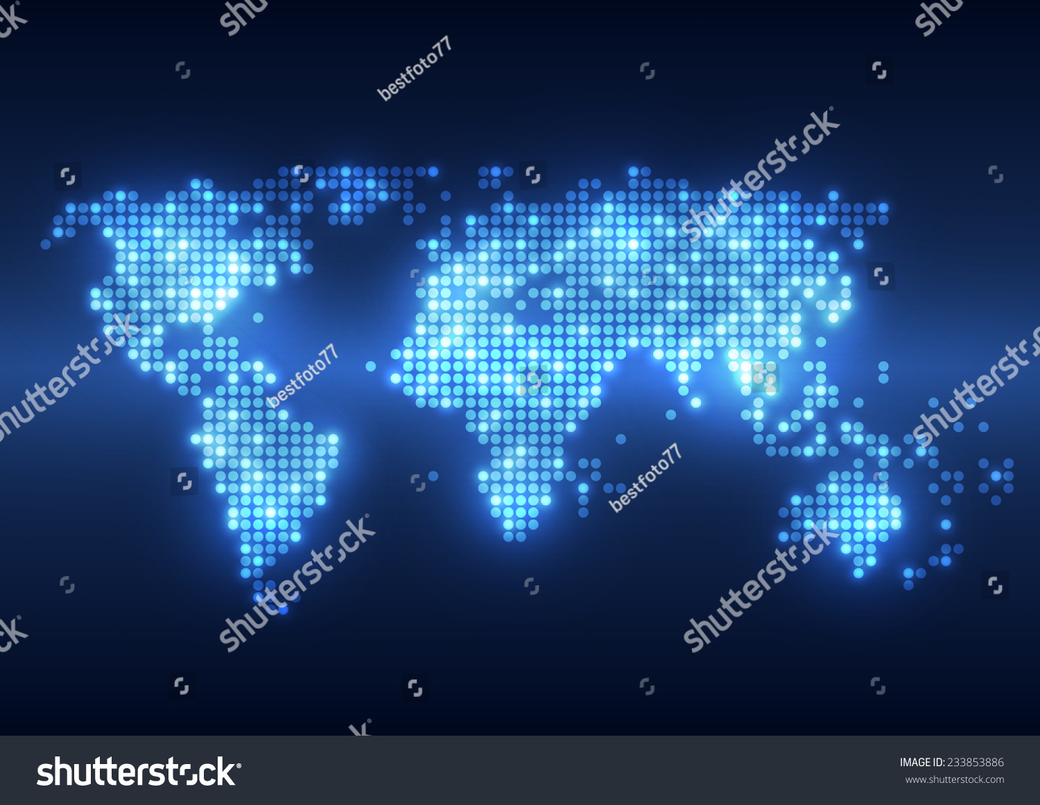 Abstract Technology Digital Backgrounds World Map Stock Vector