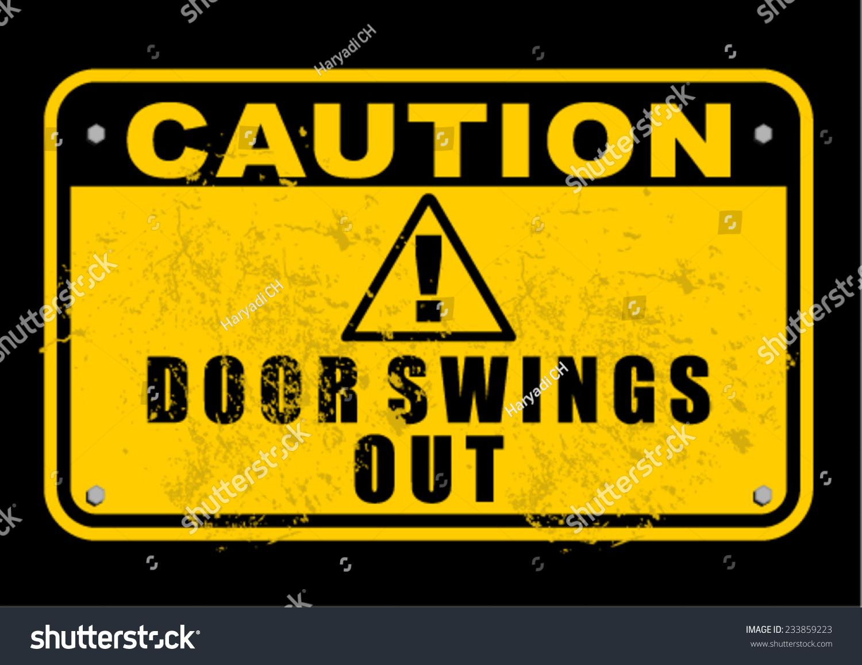 Door swings out stock vector shutterstock