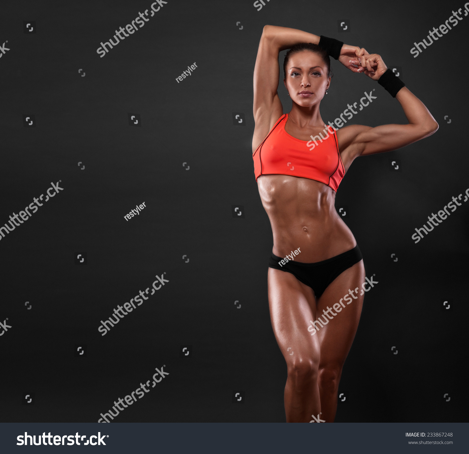 attractive fitness woman, trained female body, lifestyle portrait ...: www.shutterstock.com/pic-233867248/stock-photo-attractive-fitness...