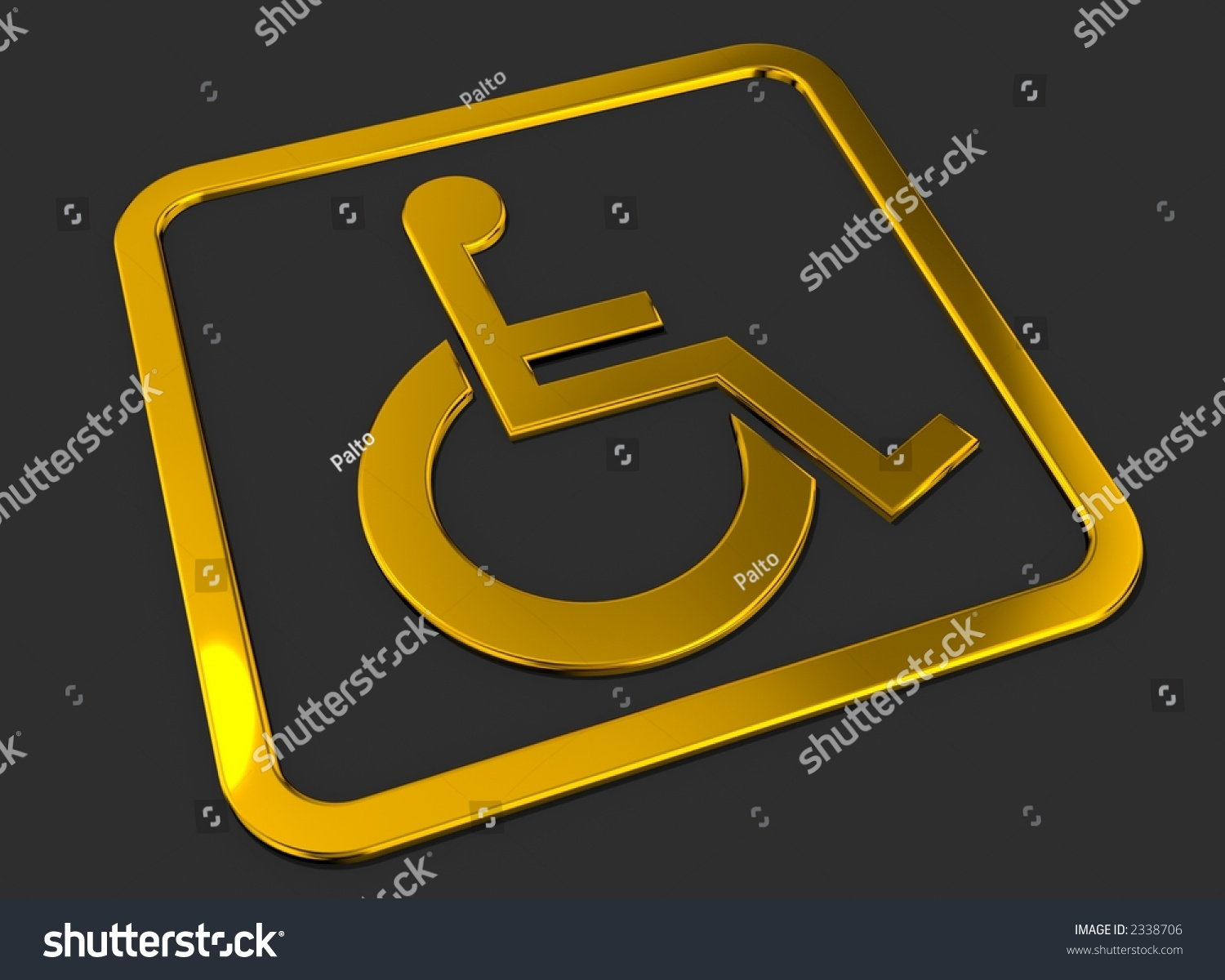 Universal wheelchair access symbol gold on stock illustration universal wheelchair access symbol gold on balck buycottarizona Gallery